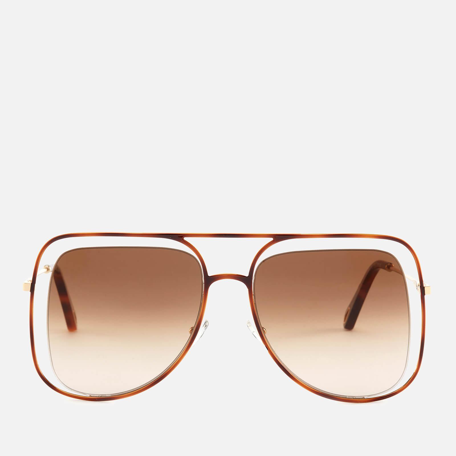 1d316cf796 Chloe Women s Poppy Aviator Sunglasses - Havanna Brown - Free UK Delivery  over £50