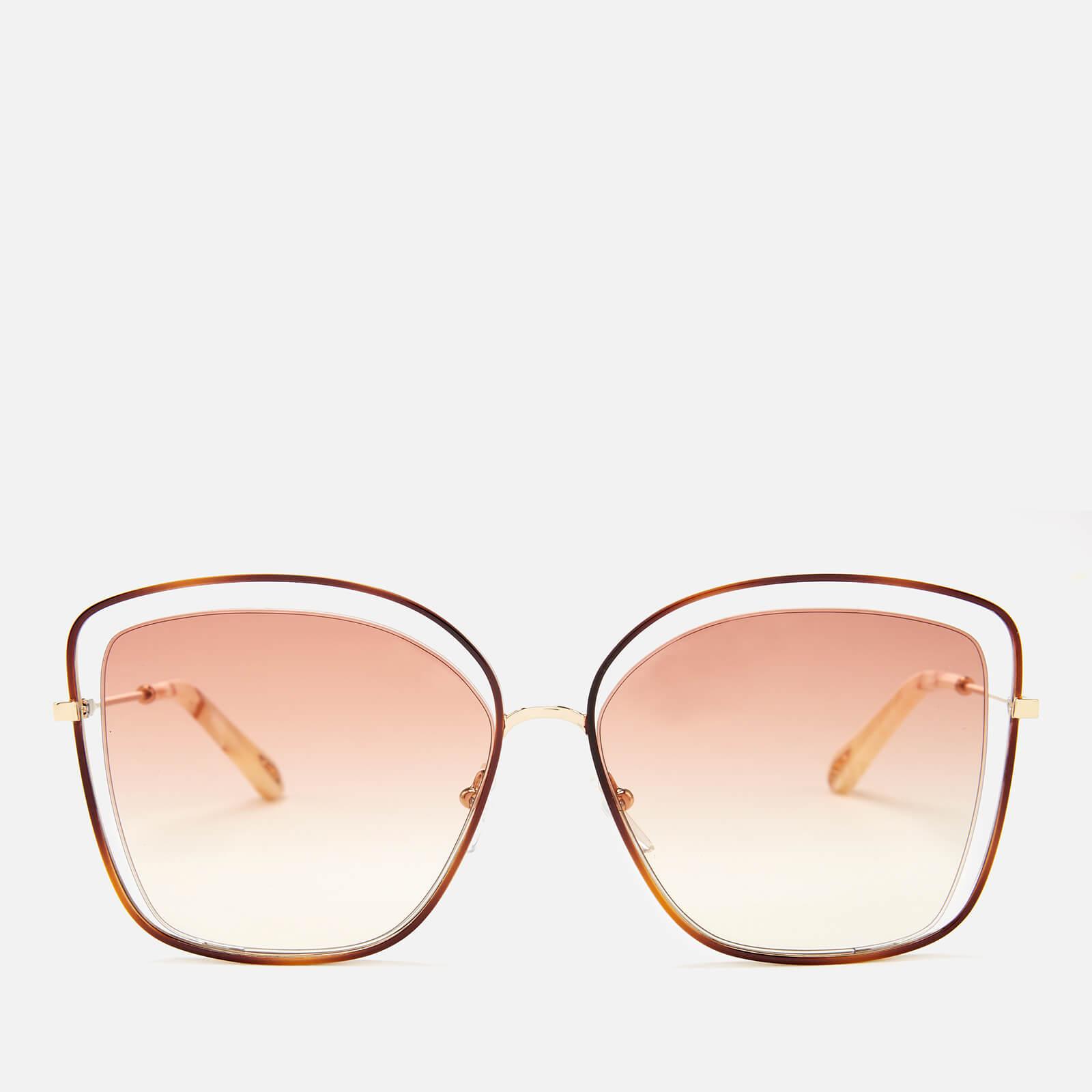 6aef195360c Chloe Women s Poppy Sunglasses - Havanna Peach - Free UK Delivery ...