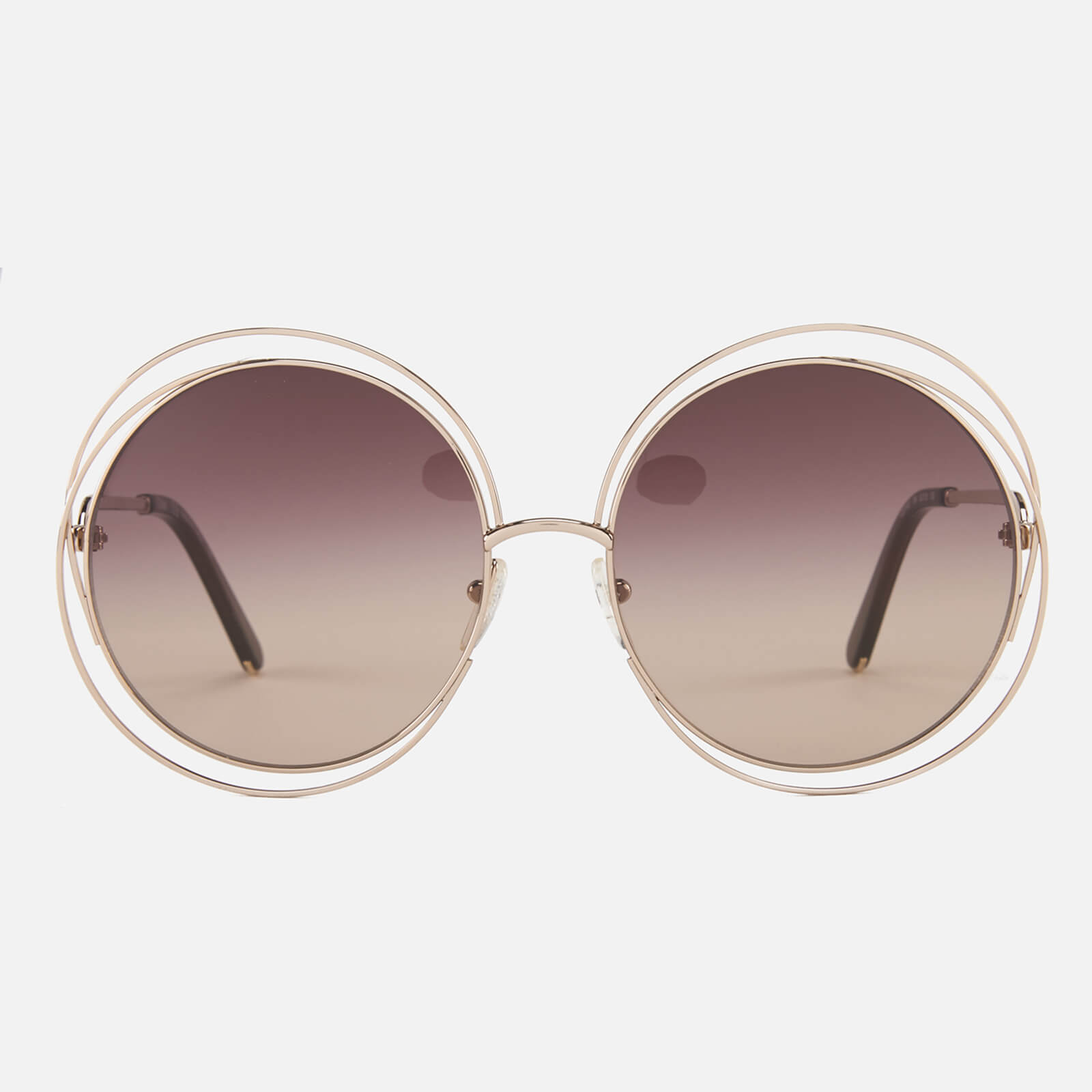 5db1970e42bc Chloe Women s Carlina Sunglasses - Rose Gold Brown - Free UK Delivery over  £50