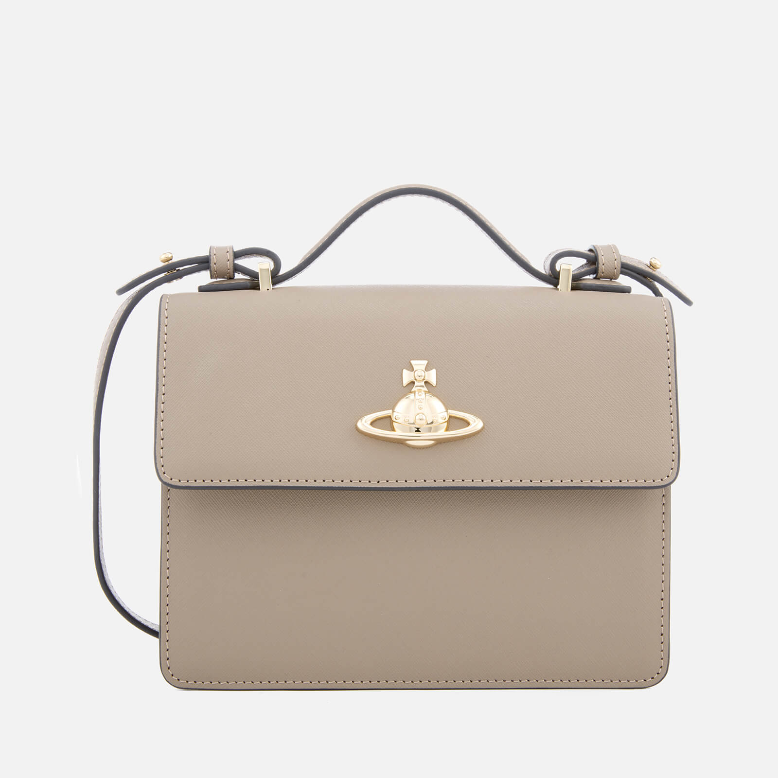610e95bb72cb Vivienne Westwood Women's Pimlico Shoulder Bag - Taupe - Free UK Delivery  over £50