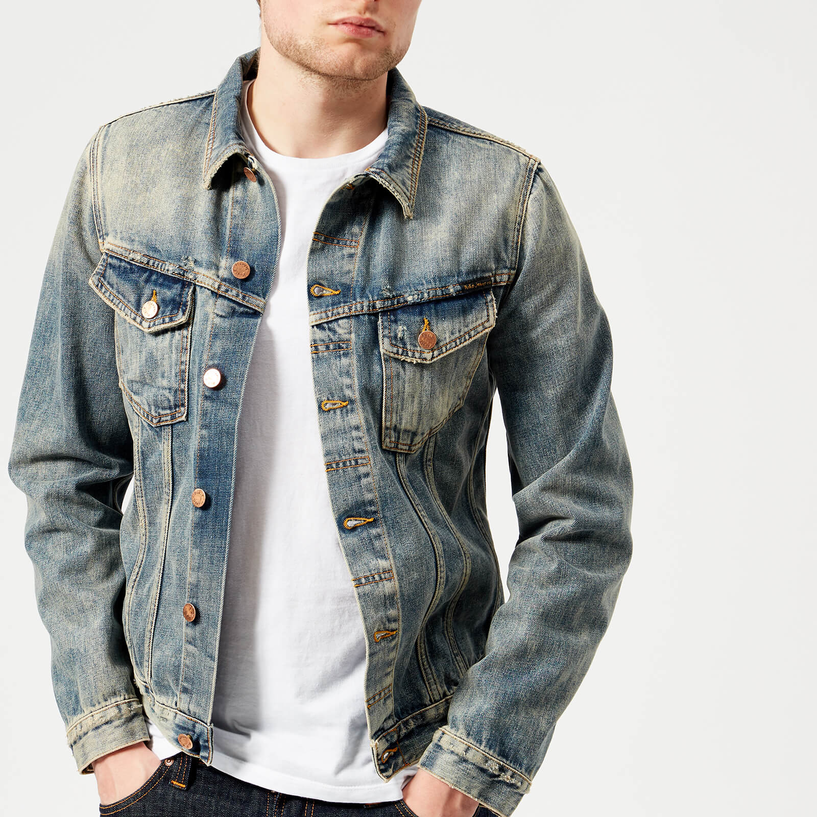 523f818014 Nudie Jeans Men s Billy Denim Jacket - Shimmering Indigo - Free UK Delivery  over £50