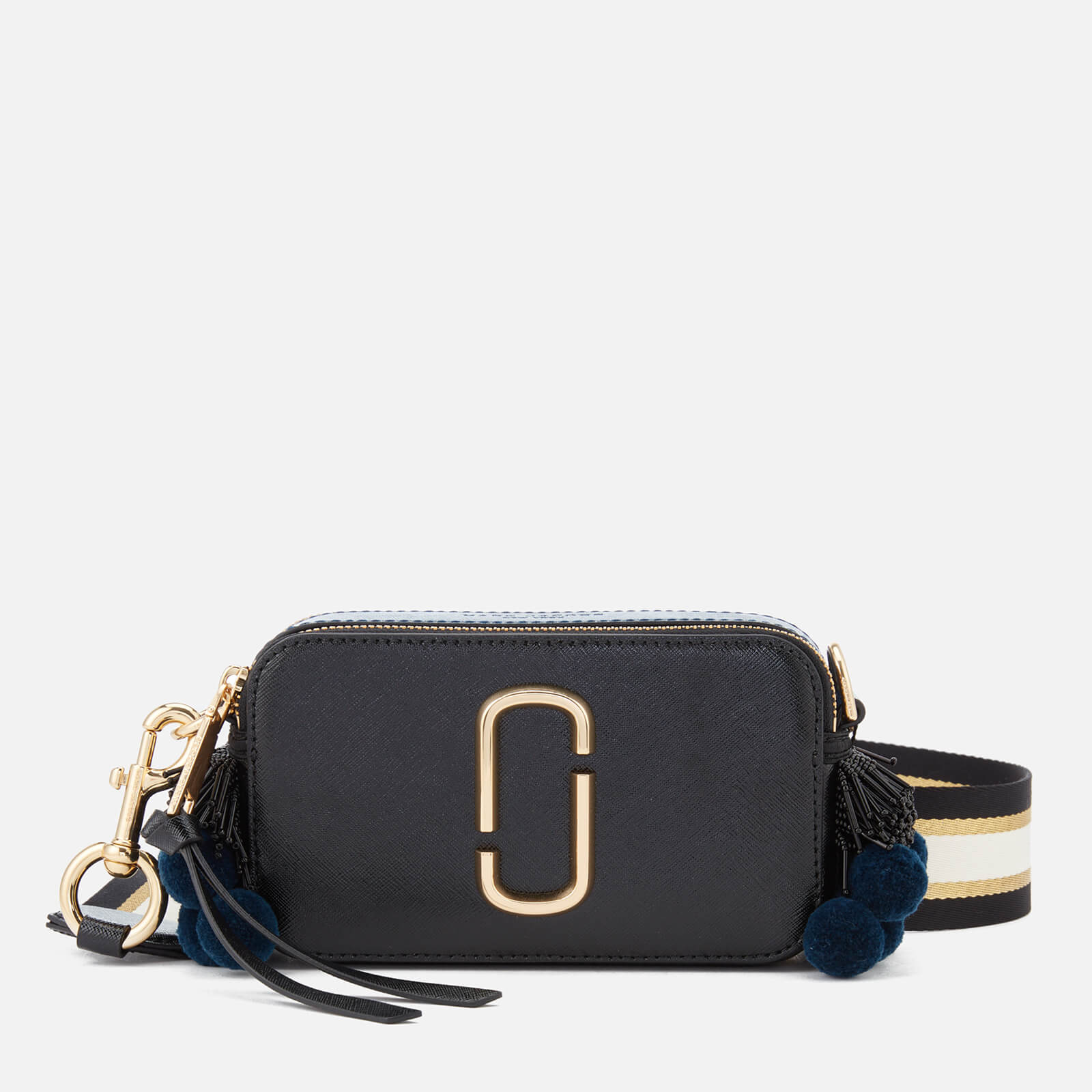 47e4698b1d Marc Jacobs Women's Snapshot Beads and Poms Bag - Black/Multi - Free UK  Delivery over £50