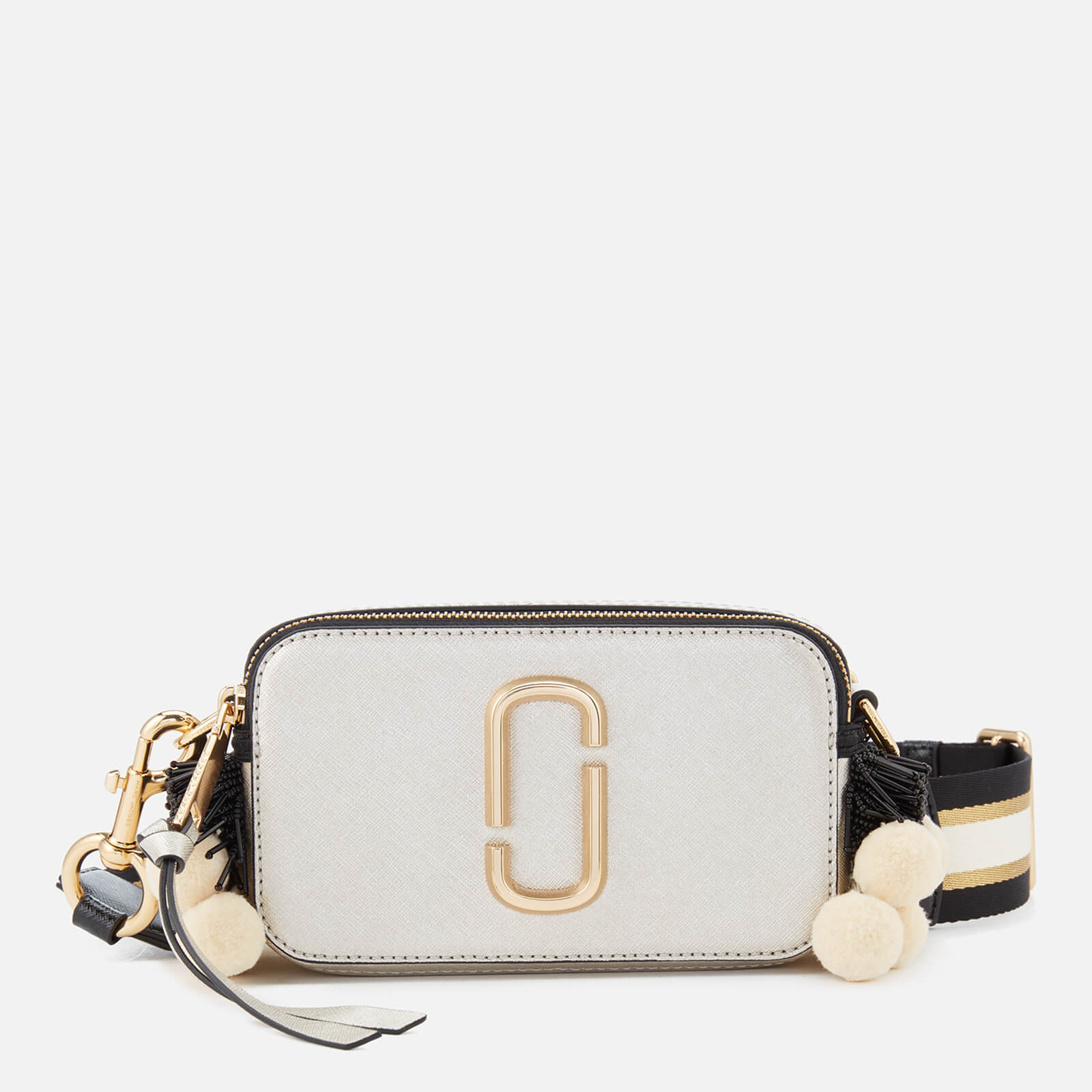 40e3d3e526 Marc Jacobs Women's Snapshot Beads and Poms Bag - Platinum/Multi - Free UK  Delivery over £50