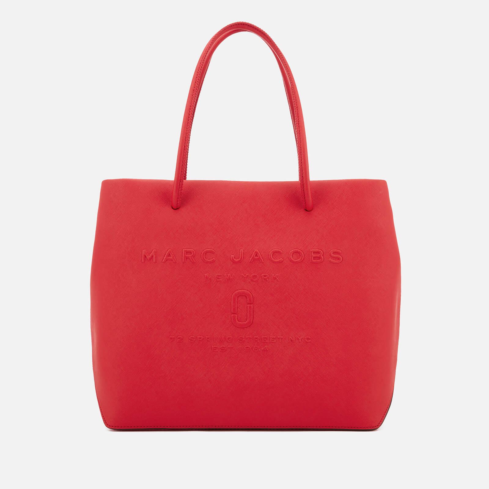 221b86d83af3 Marc Jacobs Women s Logo Shopper East West Tote Bag - Red Pepper - Free UK  Delivery over £50
