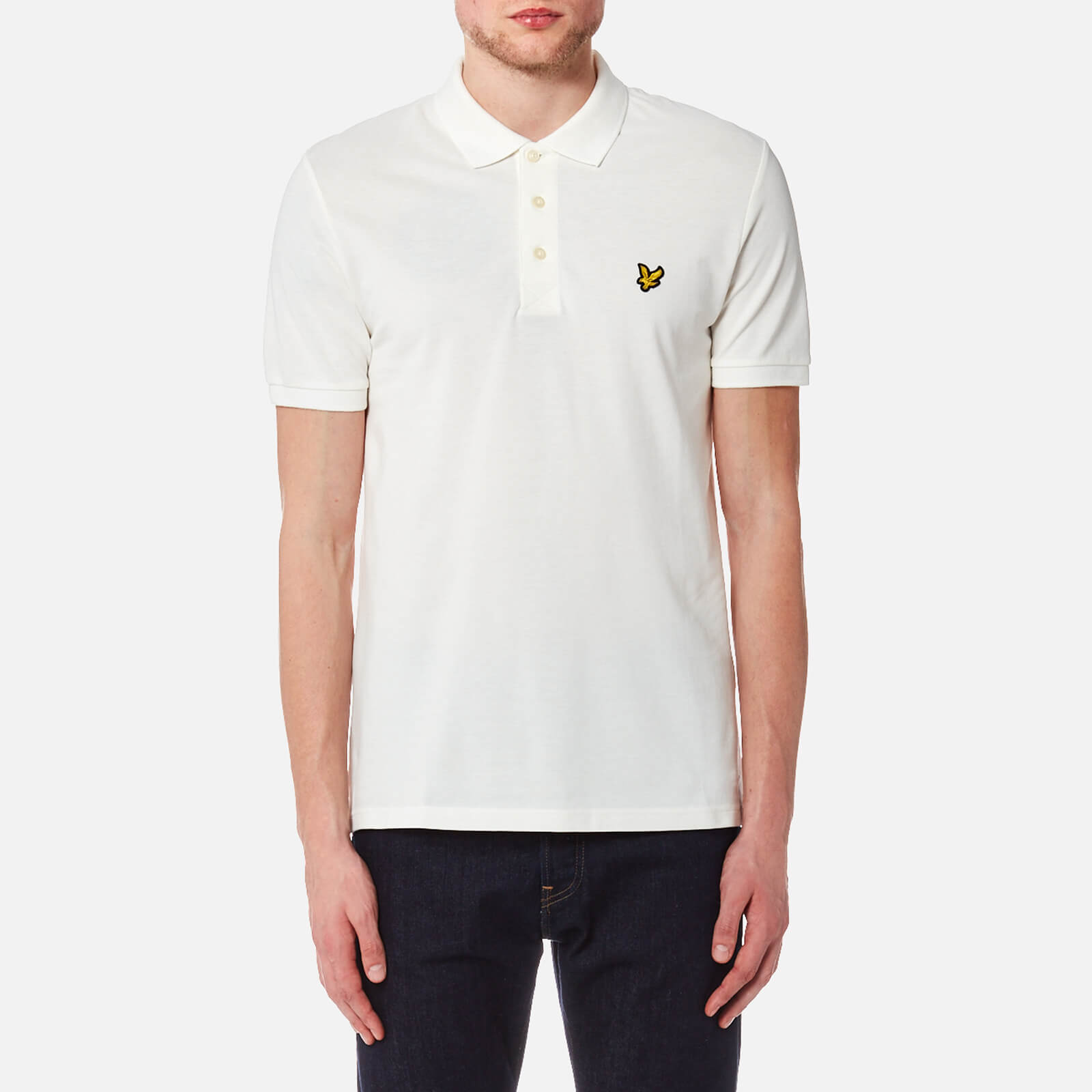 ef9eddcc Lyle & Scott Men's Polo Shirt - Off White Clothing | TheHut.com
