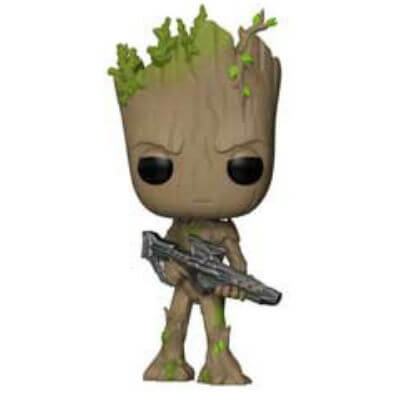 Marvel Avengers Infinity War Teen Groot with Gun Pop! Vinyl Figure