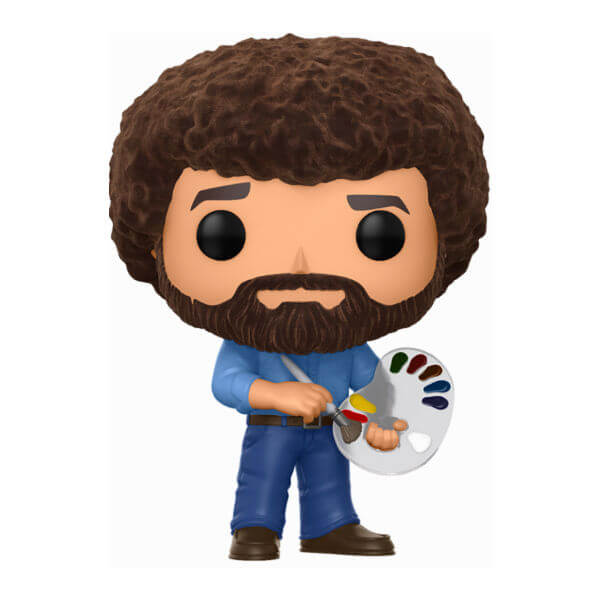 Bob Ross Flocked EXC Pop! Vinyl