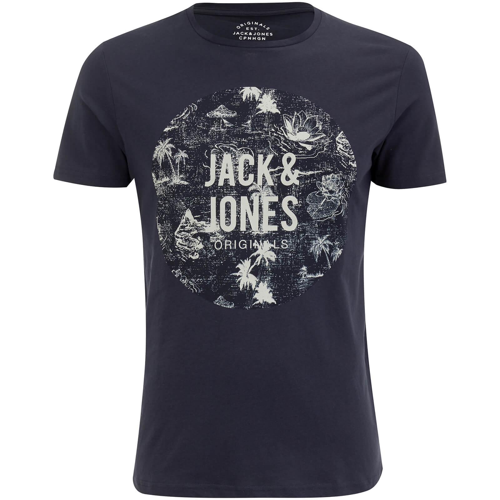 Jack Jones Men S Originals Newport T Shirt Total Eclipse