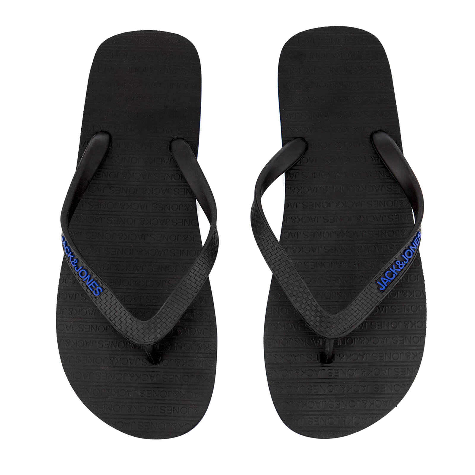 a351d9b9e Jack   Jones Men s Plain Flip Flops - Anthracite Turkish Sea Mens Footwear