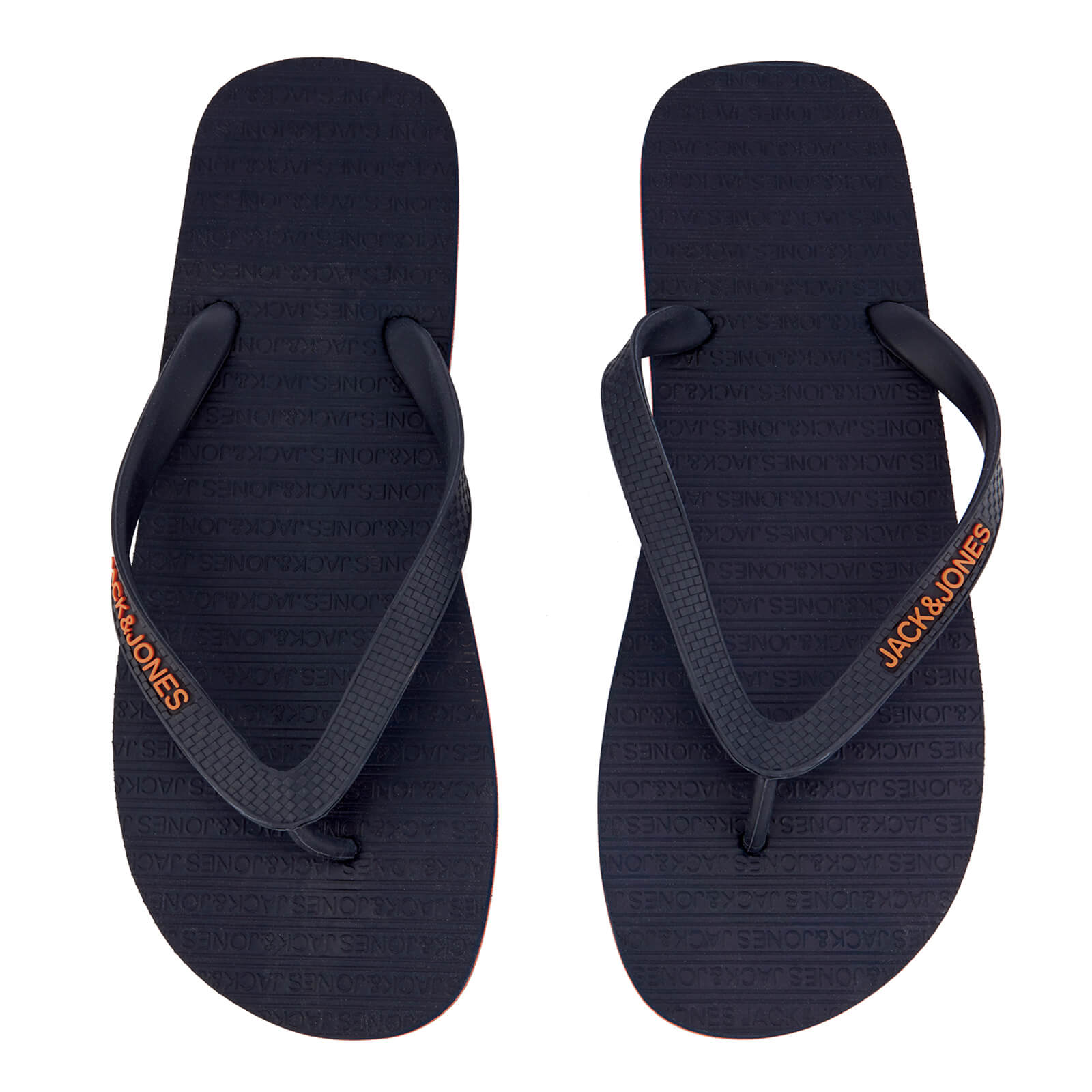 e01dd3124 Jack   Jones Men s Plain Flip Flops - Navy Blazer Orange Ochre Mens  Footwear