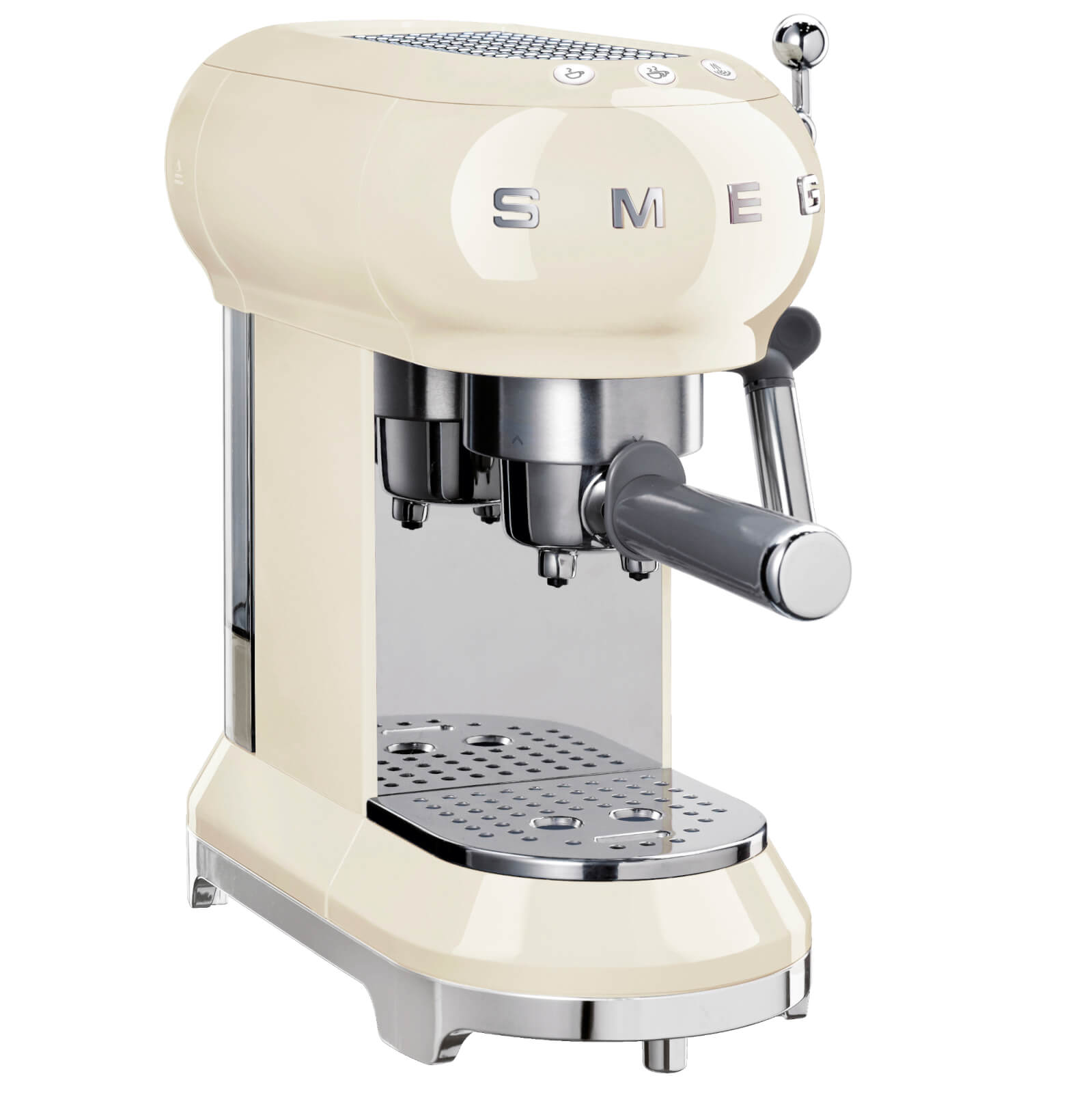 Smeg ECF01CRUK Espresso Machine - Cream