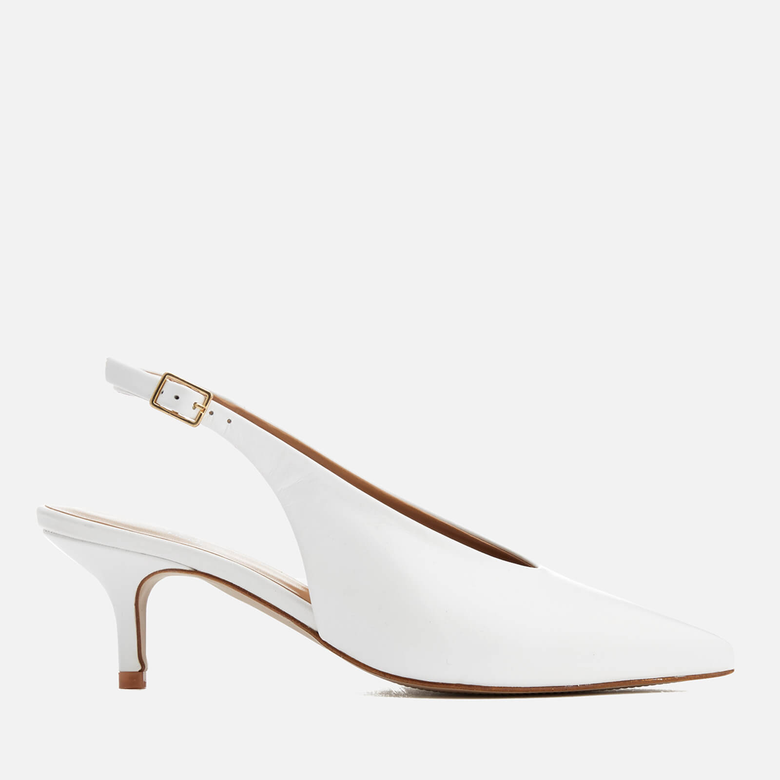 55db084006 Carvela Women's Amy Leather Sling Back Pointed Kitten Heels - White