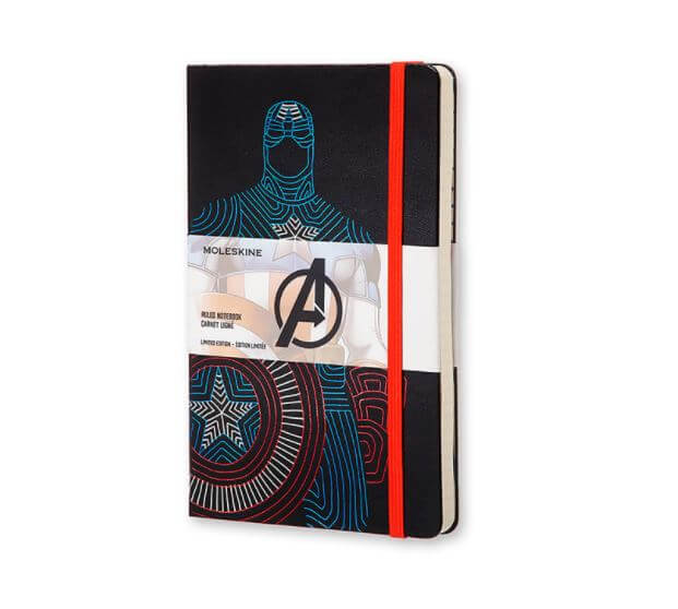 Moleskine - Captain America Limited Edition Large Ruled Notebook
