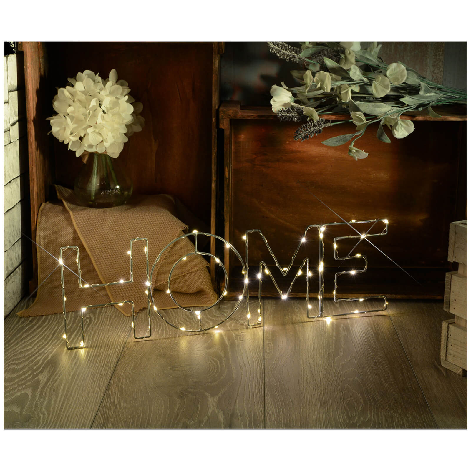 Lyyt Wire Frame Home Lighting Metal Motif - Warm White