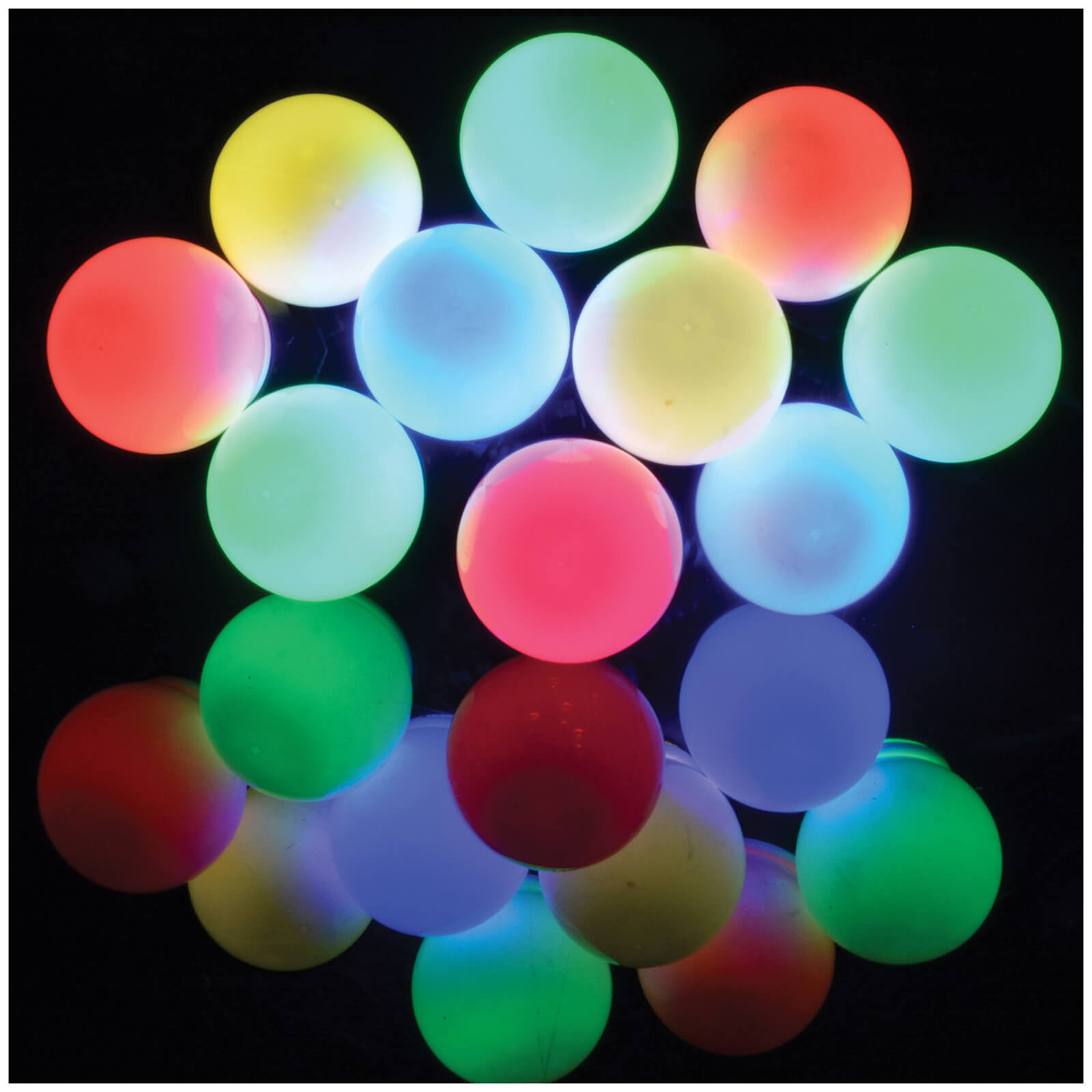 Lyyt 10 Bauble Outdoor Festoon LED Lights - Multicolour