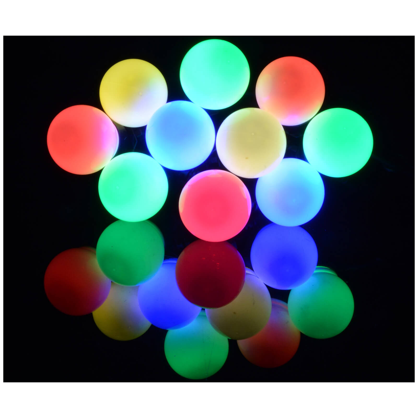 Lyyt 10 Bauble Indoor Festoon LED Lights - Multicolour