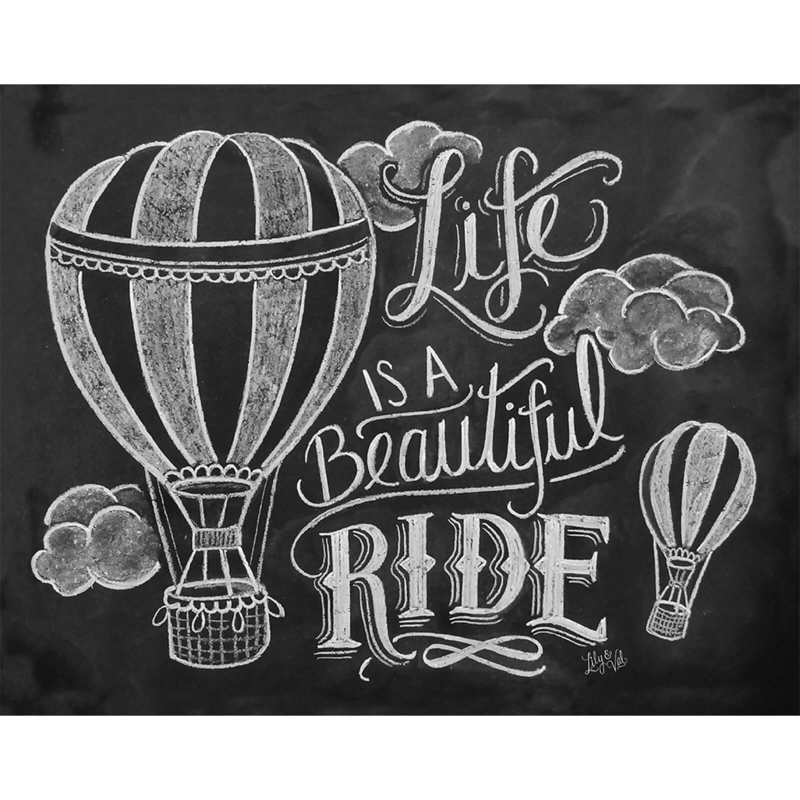 Lily & Val Life Is A Beautiful Ride Art Print