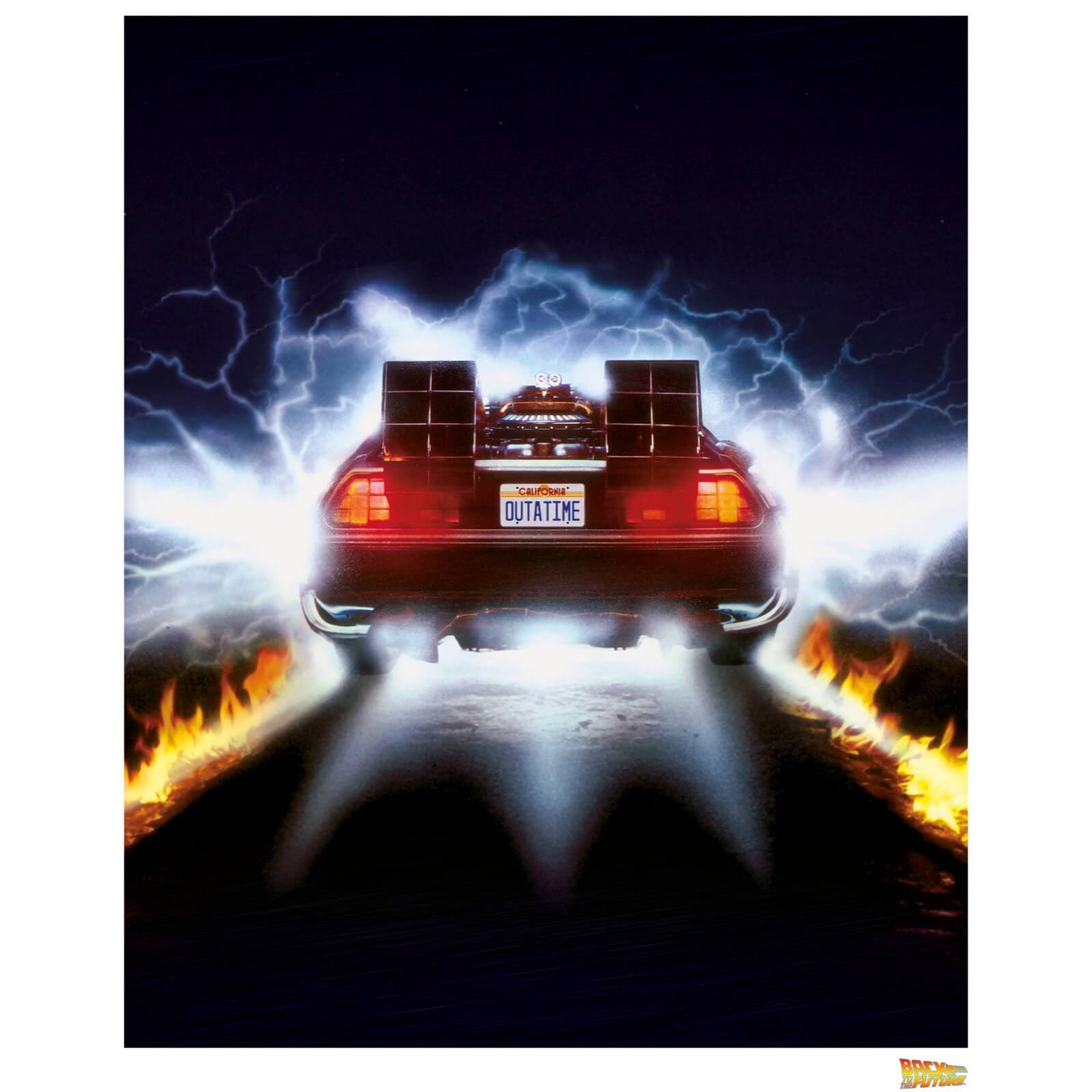 Back to the Future Delorean Rear View - Limited Edition Art Print