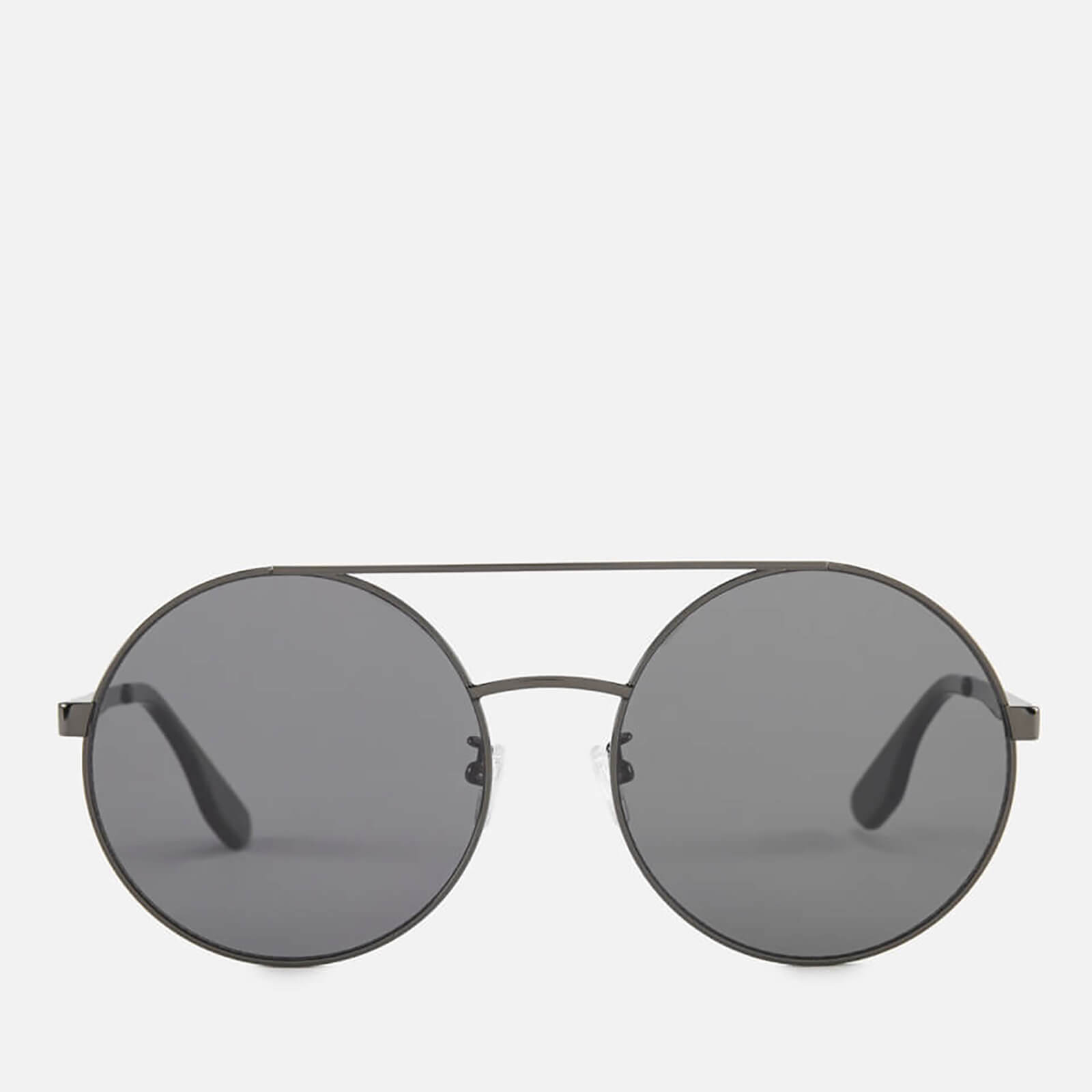 21e1ae2be2 McQ Alexander McQueen Women s Round Metal Frame Sunglasses - Black Black -  Free UK Delivery over £50