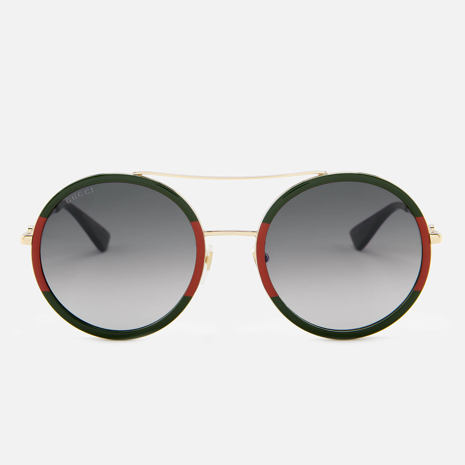 24cc1c7b6a4 Gucci Women s Round Frame Sunglasses - Gold Green - Free UK Delivery over  £50