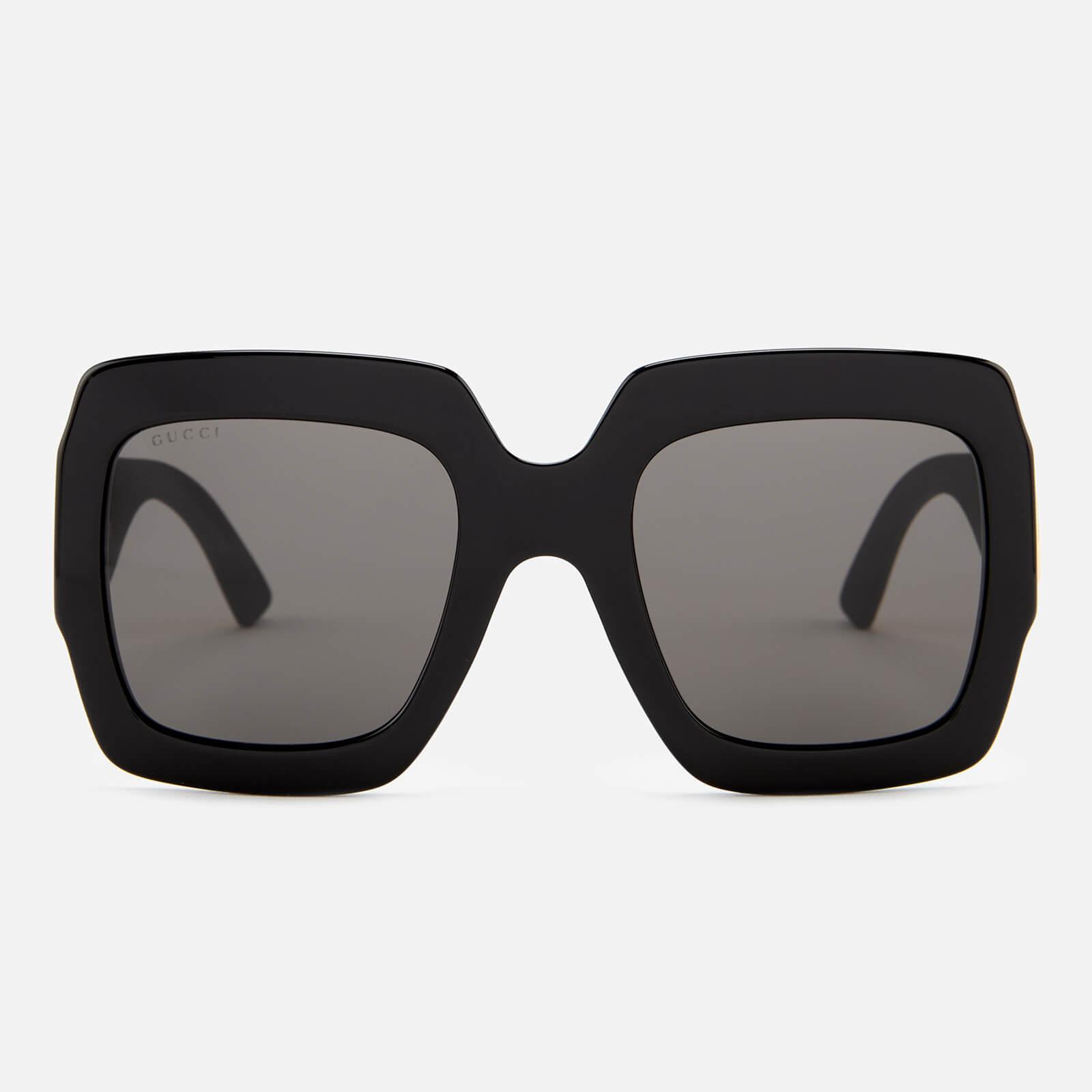 bbc280e375e Gucci Women s Large Square Frame Sunglasses - Black Gold - Free UK Delivery  over £50