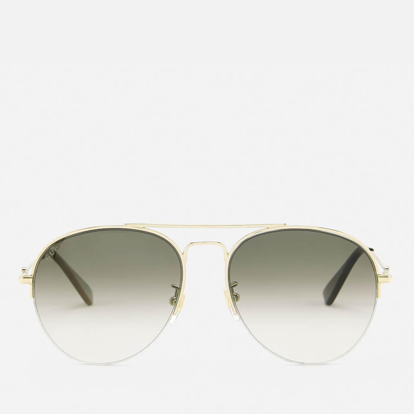 Gucci Women S Aviator Sunglasses Gold Brown