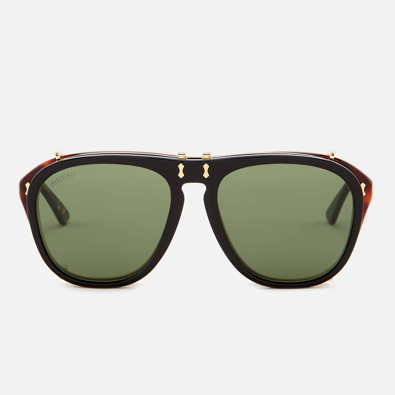 c532316ef0 Gucci Men s Aviator Sunglasses - Green Brown - Free UK Delivery over £50