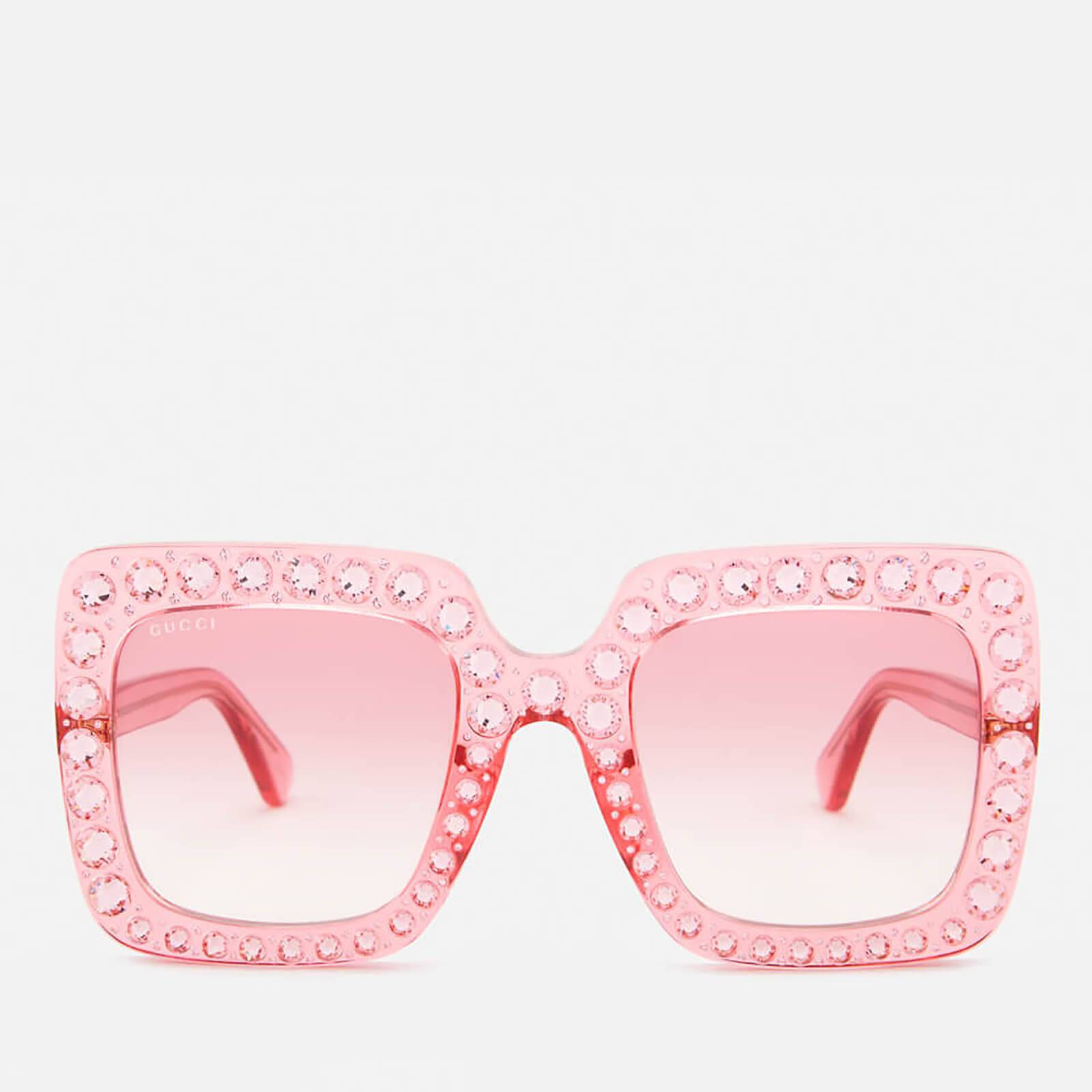 0c093185e9ebb Gucci Women s Large Square Frame Sunglasses - Pink - Free UK Delivery over  £50