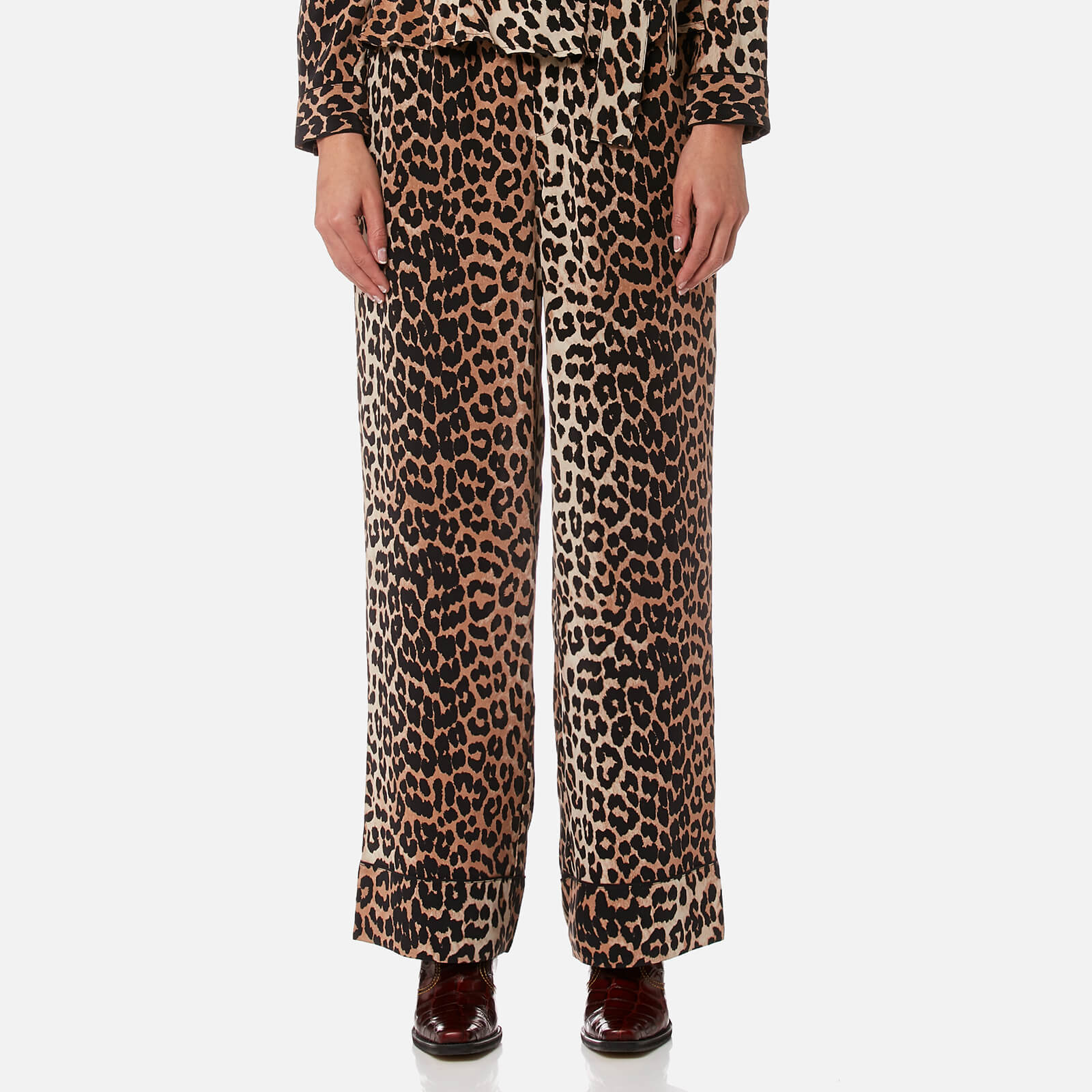 26c41483259 Ganni Women s Fayette Silk Trousers - Leopard - Free UK Delivery over £50