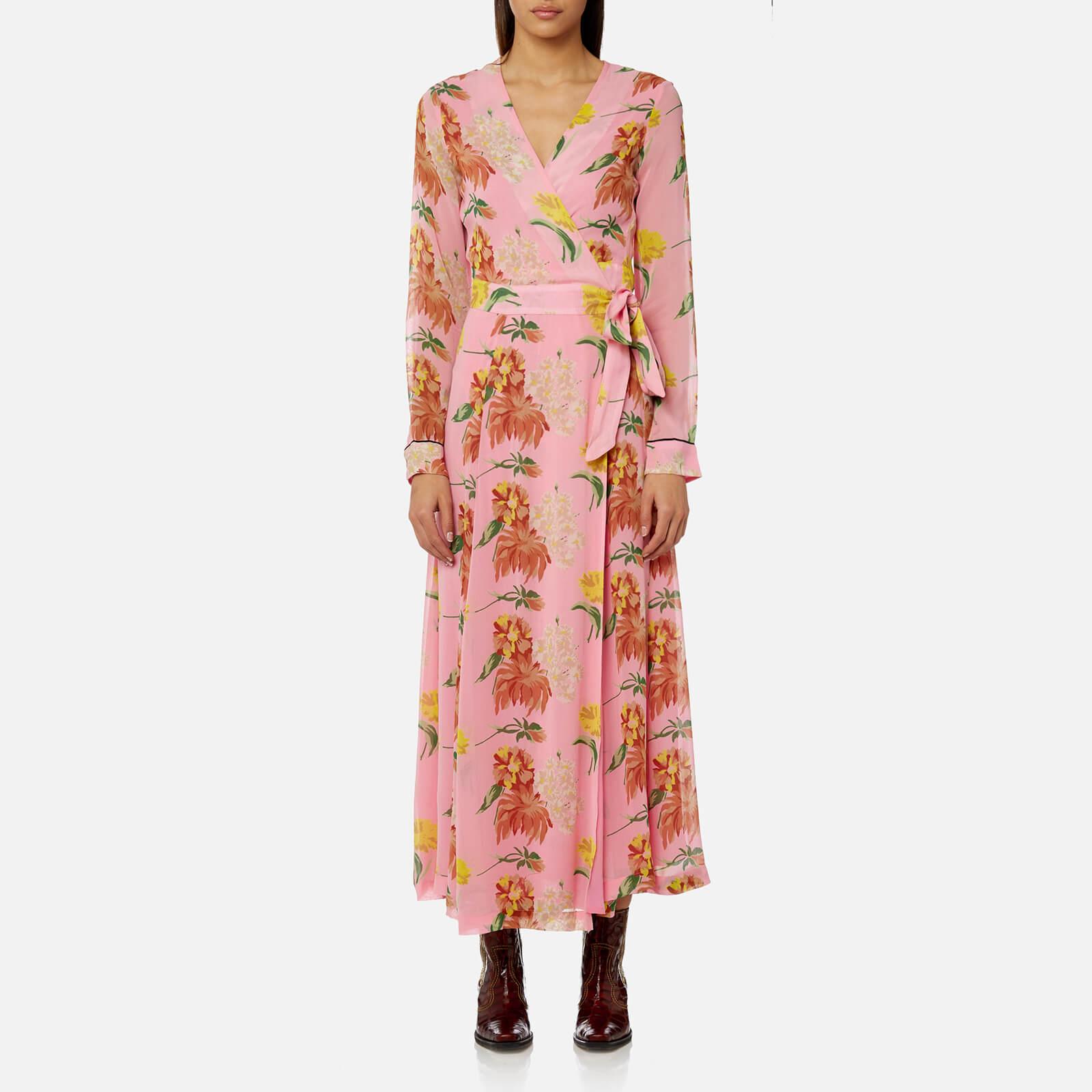 02d2b21196dc Ganni Women's Marceau Georgette Dress - Sea Pink - Free UK Delivery over £50
