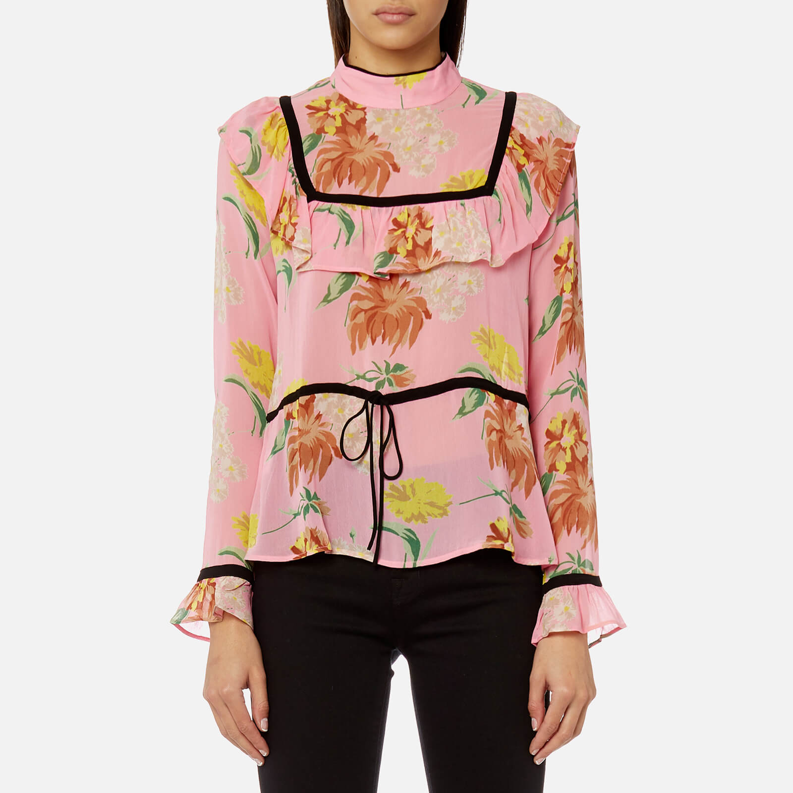 5a0fc932ebf1 Ganni Women's Marceau Georgette Shirt - Sea Pink - Free UK Delivery over £50