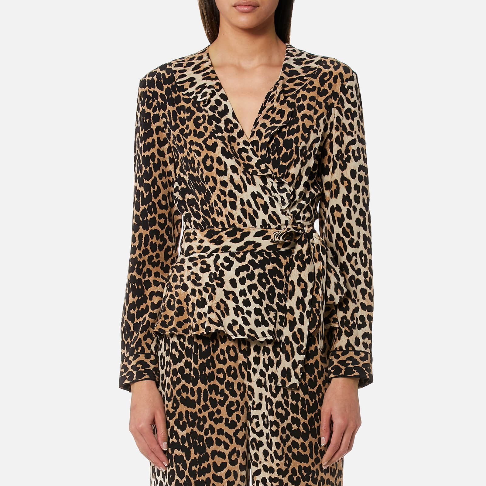 8163a0f530e Ganni Women s Fayette Silk Top - Leopard - Free UK Delivery over £50