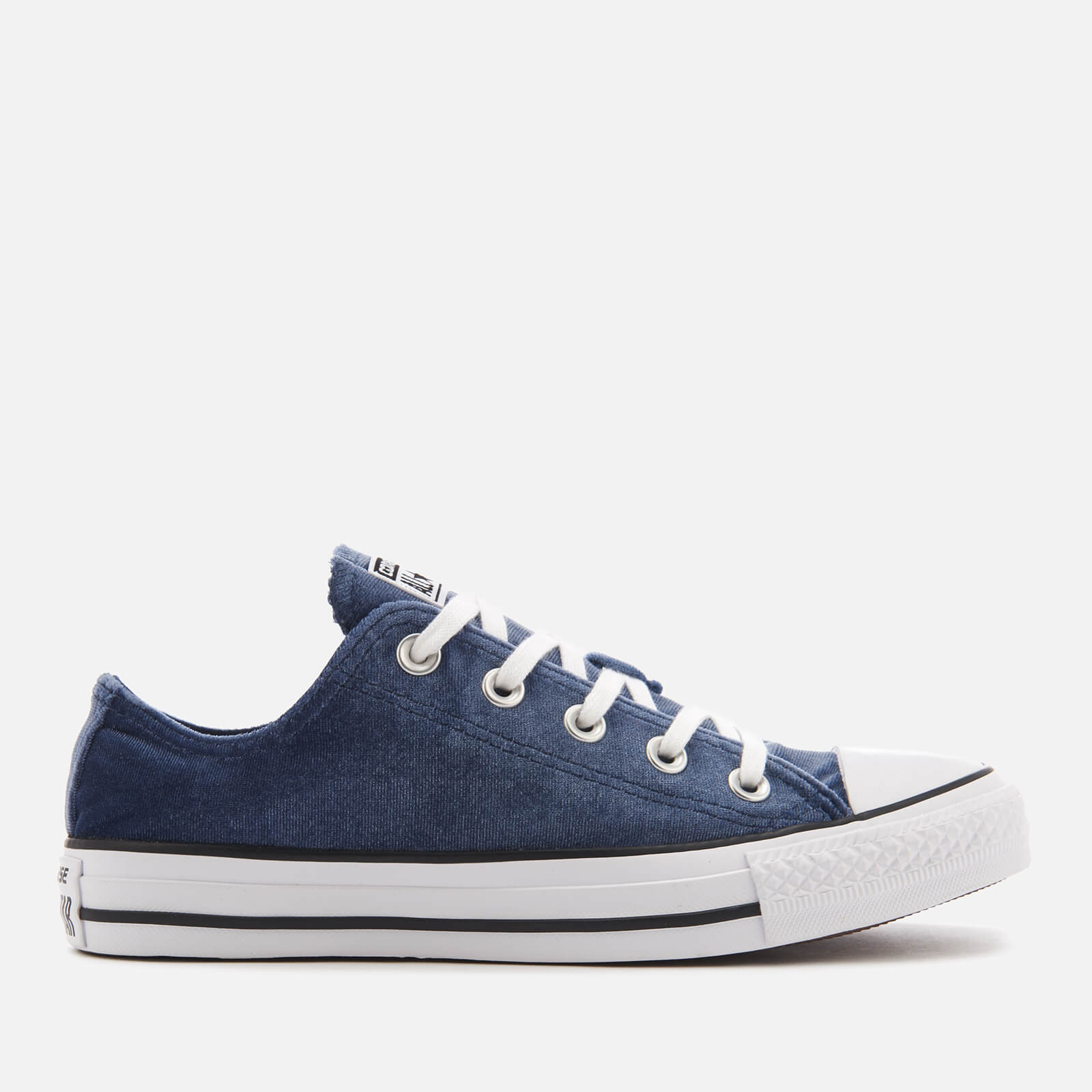 9762f44826d8 Converse Women s Chuck Taylor All Star Ox Trainers - Midnight Navy White White  Clothing