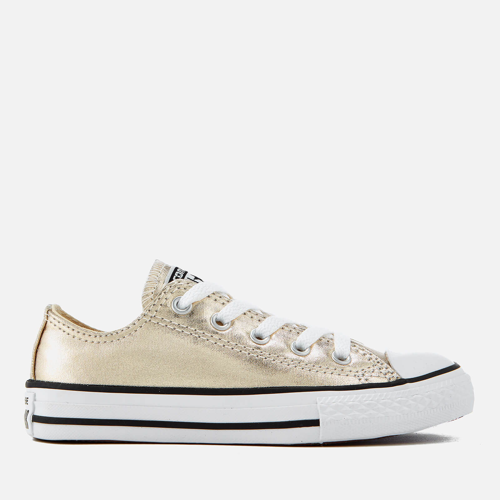ed71c1aeadfa6e Converse Kids  Chuck Taylor All Star Ox Trainers - Light Gold White Black  Junior Clothing
