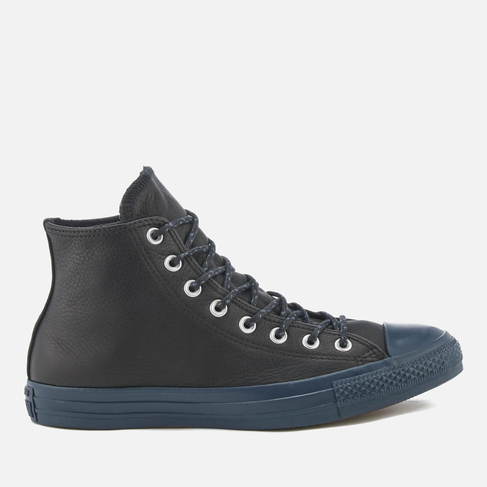 cb3101da62ff Converse Men s Chuck Taylor All Star Hi-Top Trainers - Black Black Sharkskin  Clothing