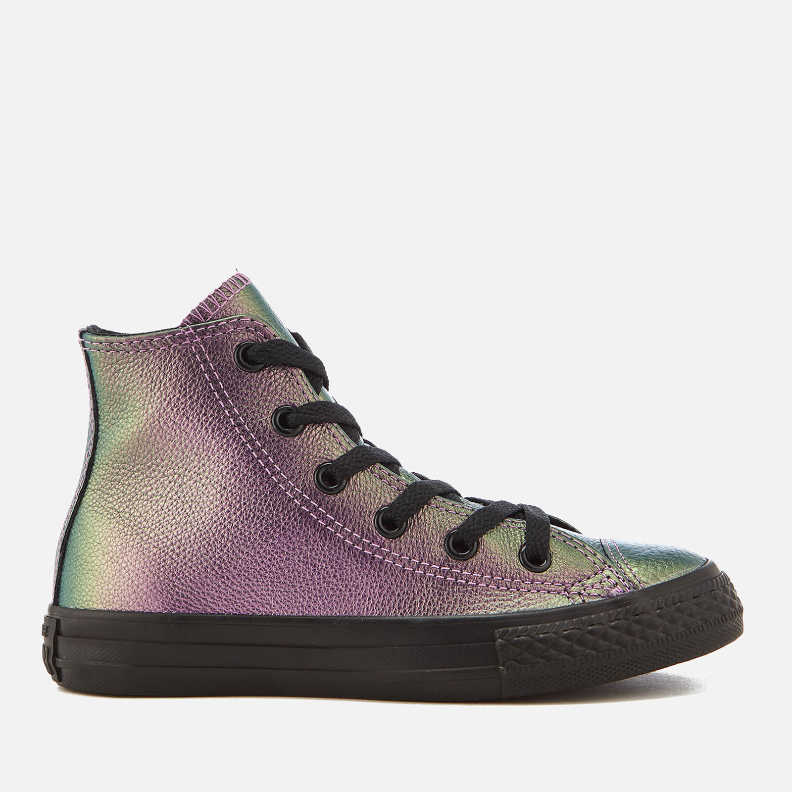 30ccb311ac516e Converse Kids  Chuck Taylor All Star Hi-Top Trainers - Violet Black Black  Junior Clothing