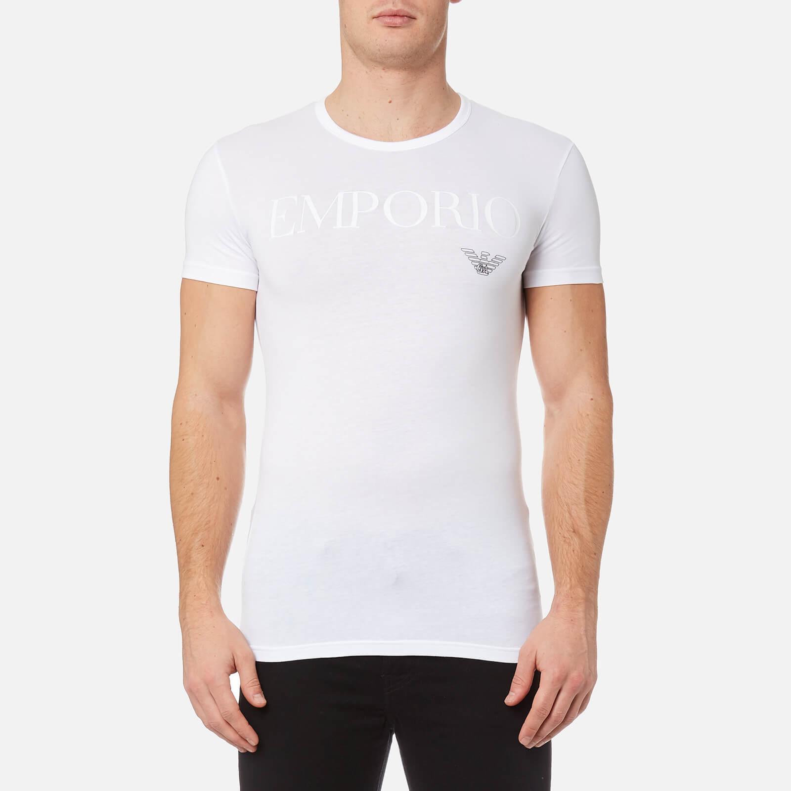 4bd84914 Emporio Armani Men's Stretch Cotton Crew Neck T-Shirt - Bianco
