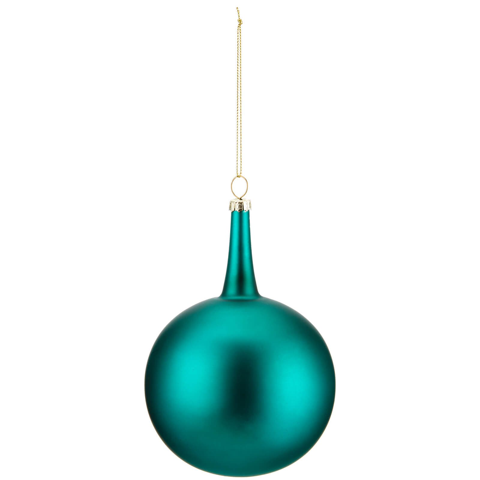 Bark & Blossom Glitter Swirl Teal Onion Bauble