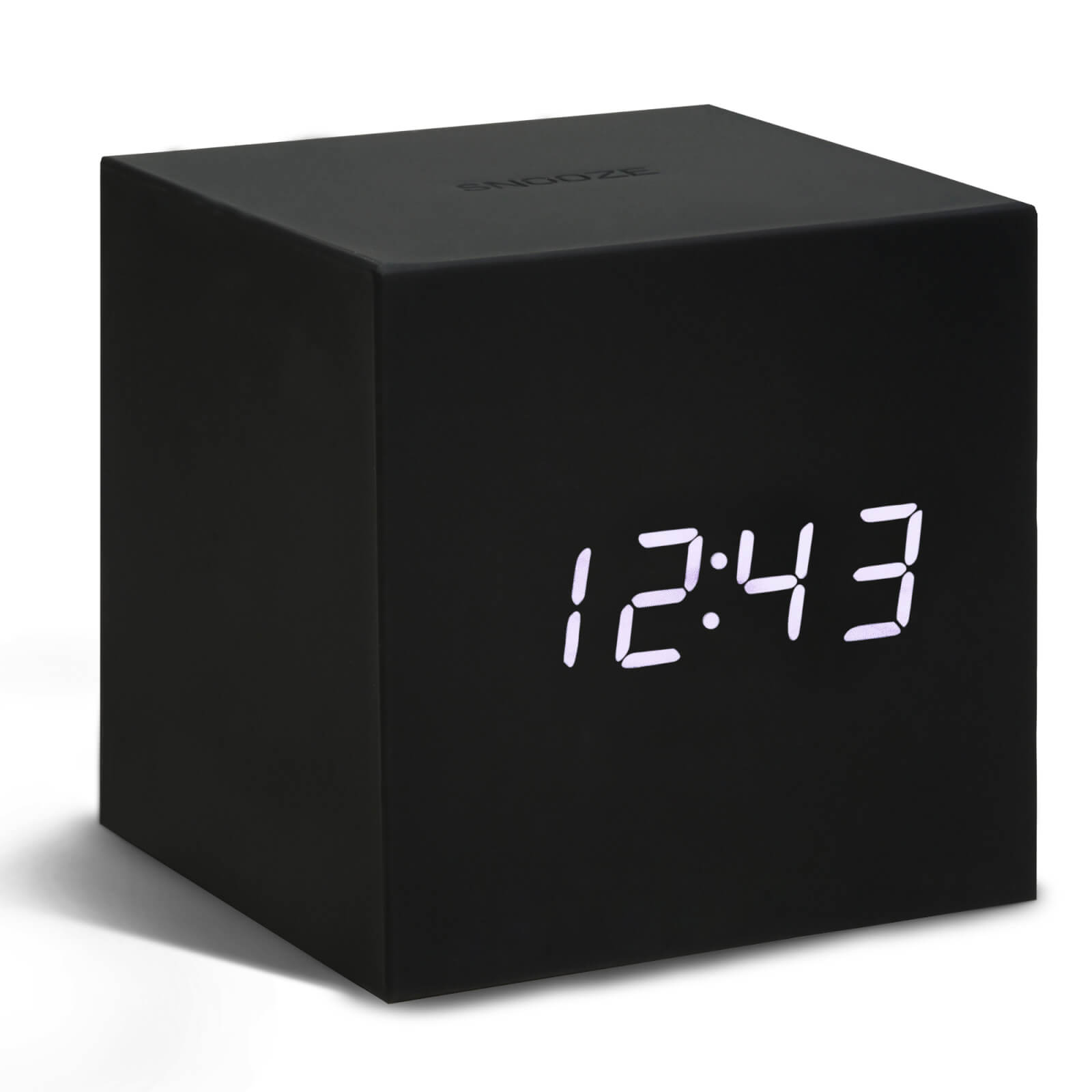 Gingko Gravity Cube Click Clock - Black