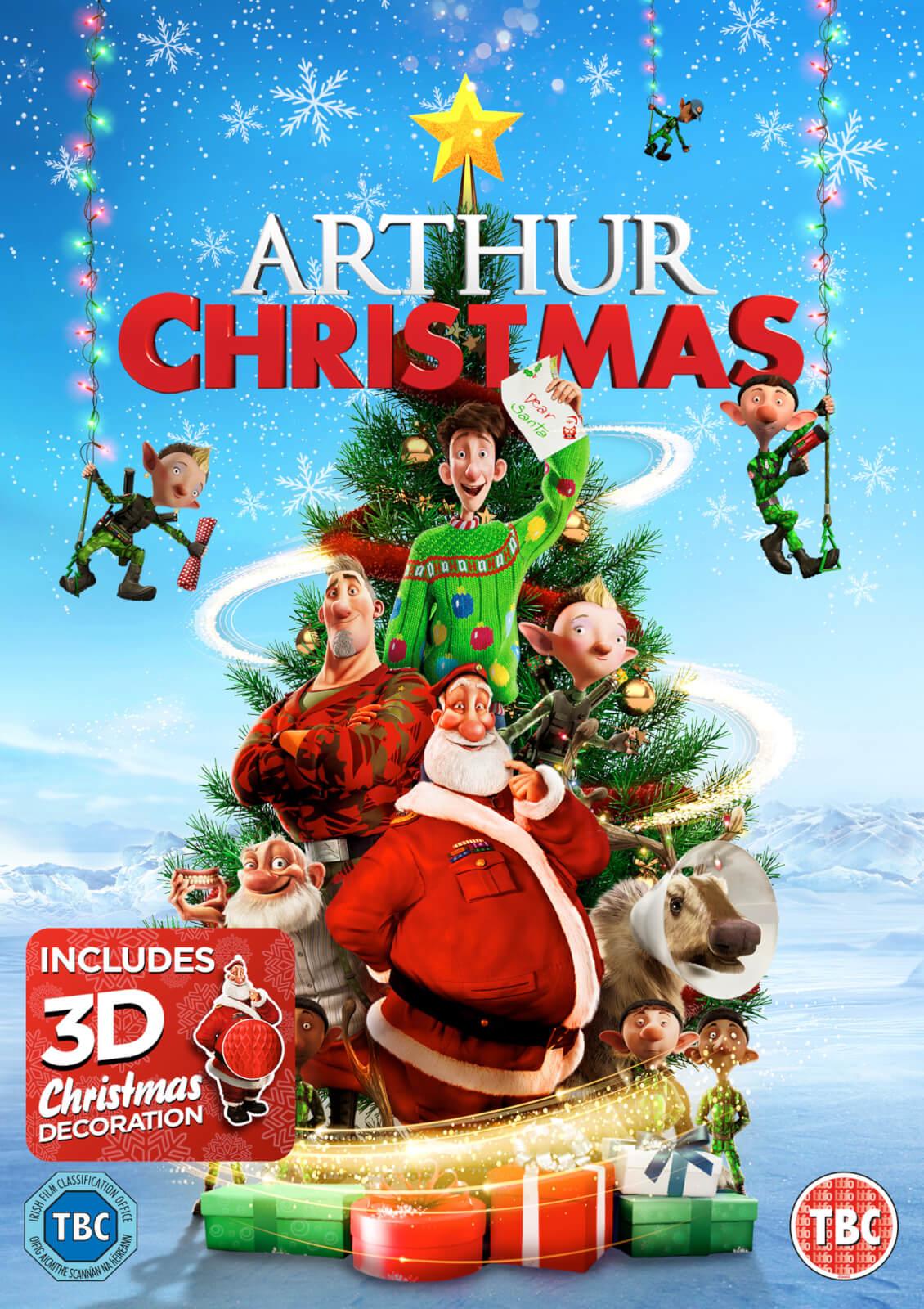 Arthur Christmas Poster.Arthur Christmas Incl Christmas Decoration