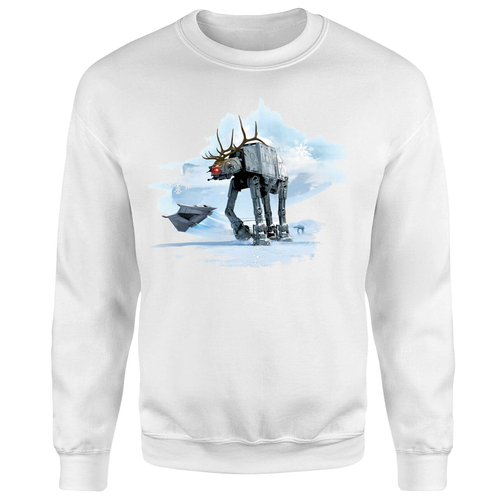 Star Wars AT-AT Christmas Reindeer White Christmas Sweatshirt