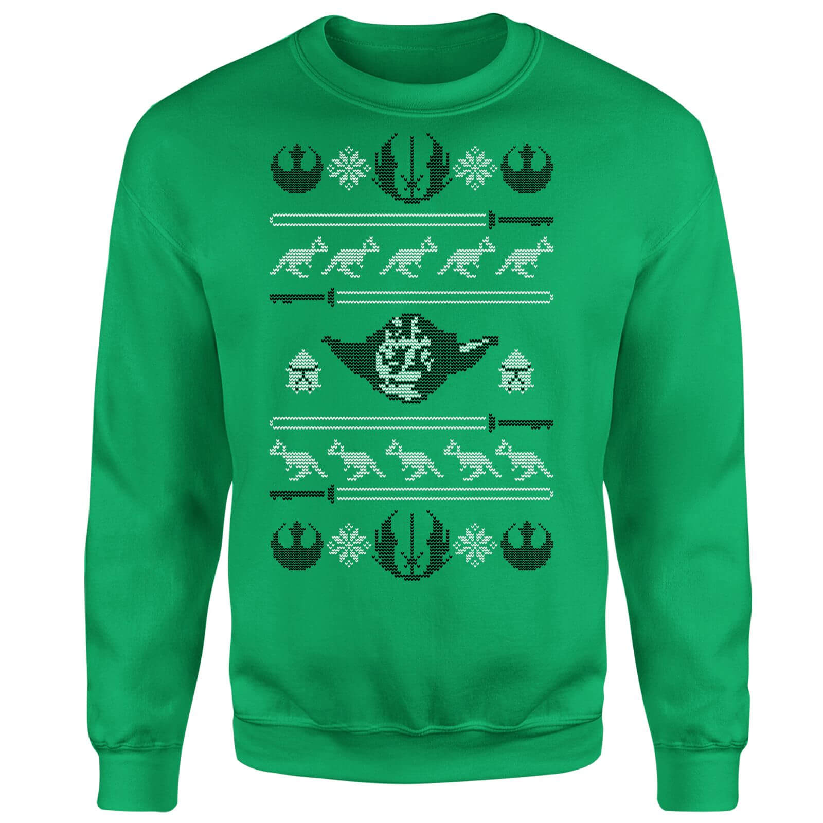 Star Wars Yoda Face Knit Green Christmas Sweatshirt