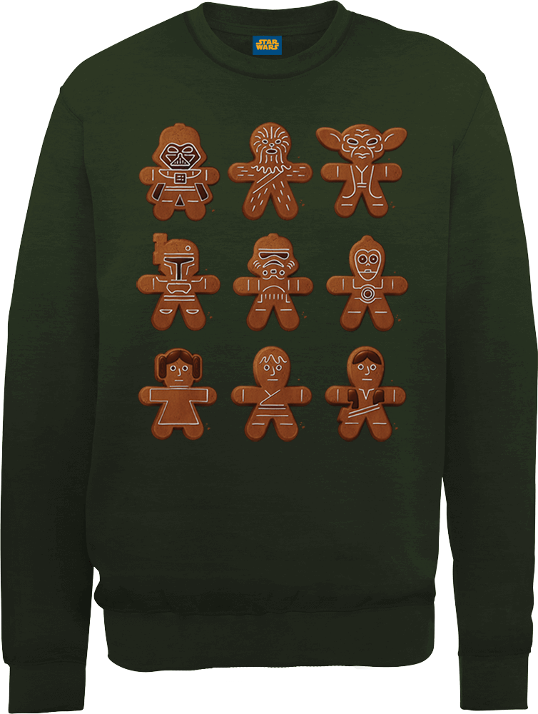 Sweat Homme Biscuits - Star Wars - Vert