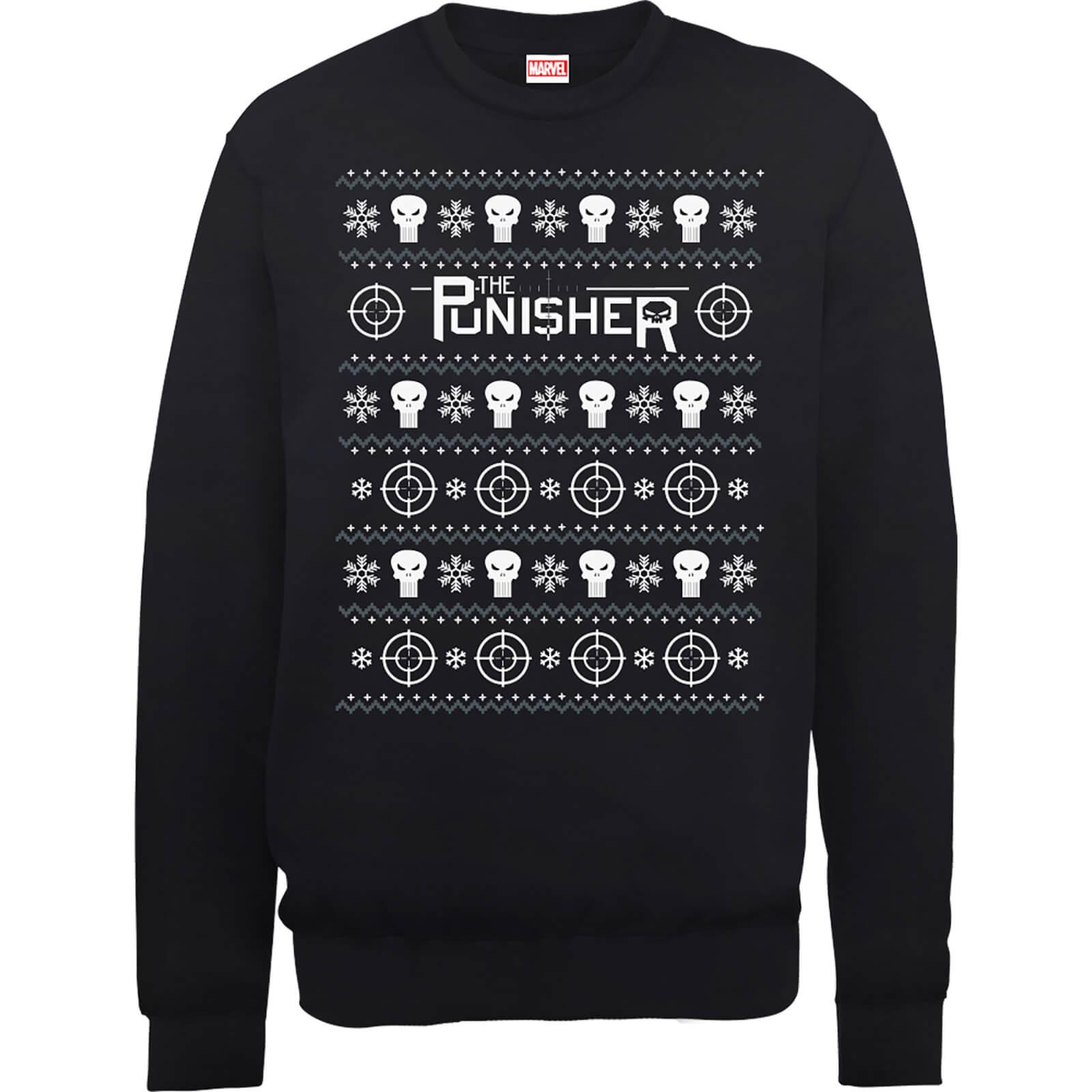 Marvel The Punisher Black Christmas Sweatshirt Clothing | Zavvi US