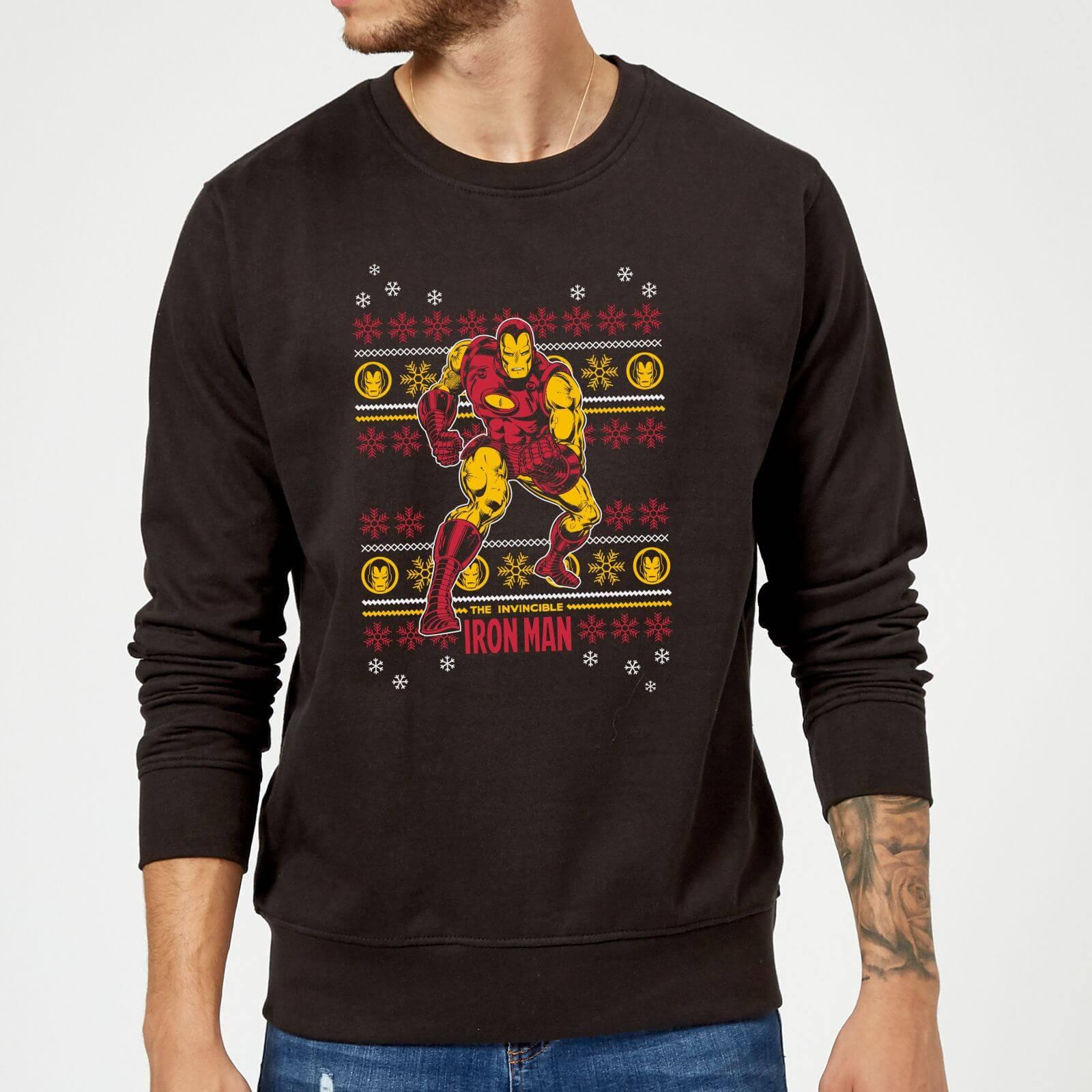 Kersttrui Man.Marvel Comics The Invincible Iron Man Kersttrui Zwart Zavvi Nl