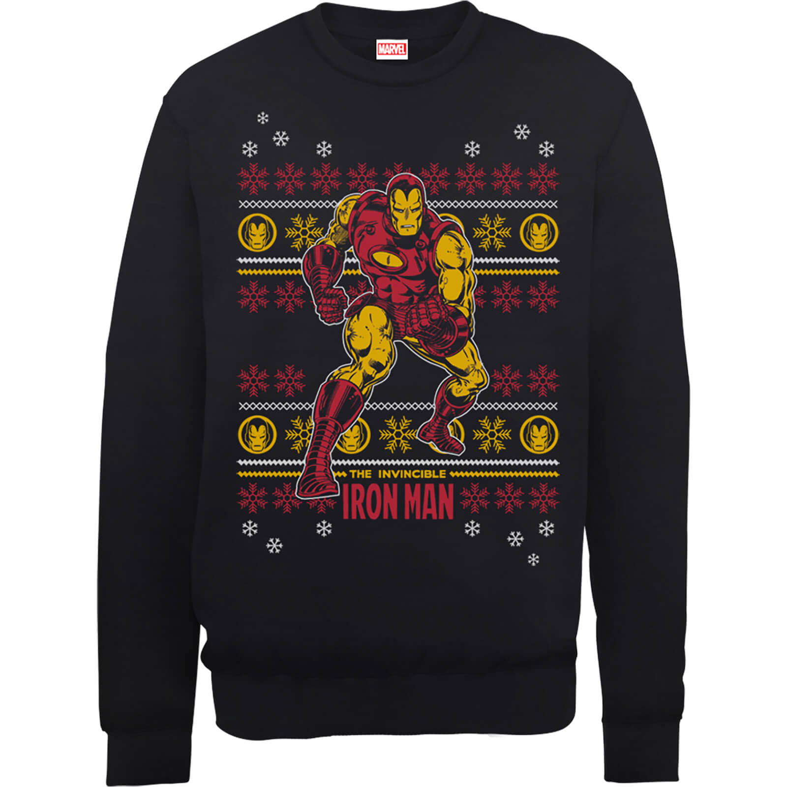 Marvel Comics The Invincible Ironman Black Christmas Sweatshirt