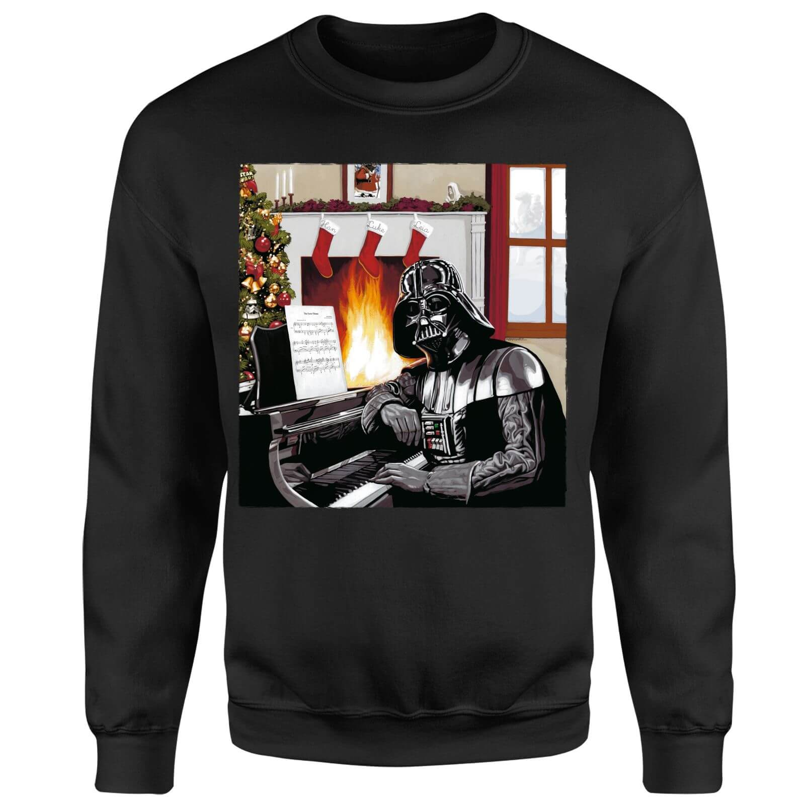 Star Wars Darth Vader Piano Player Black Christmas Sweatshirt