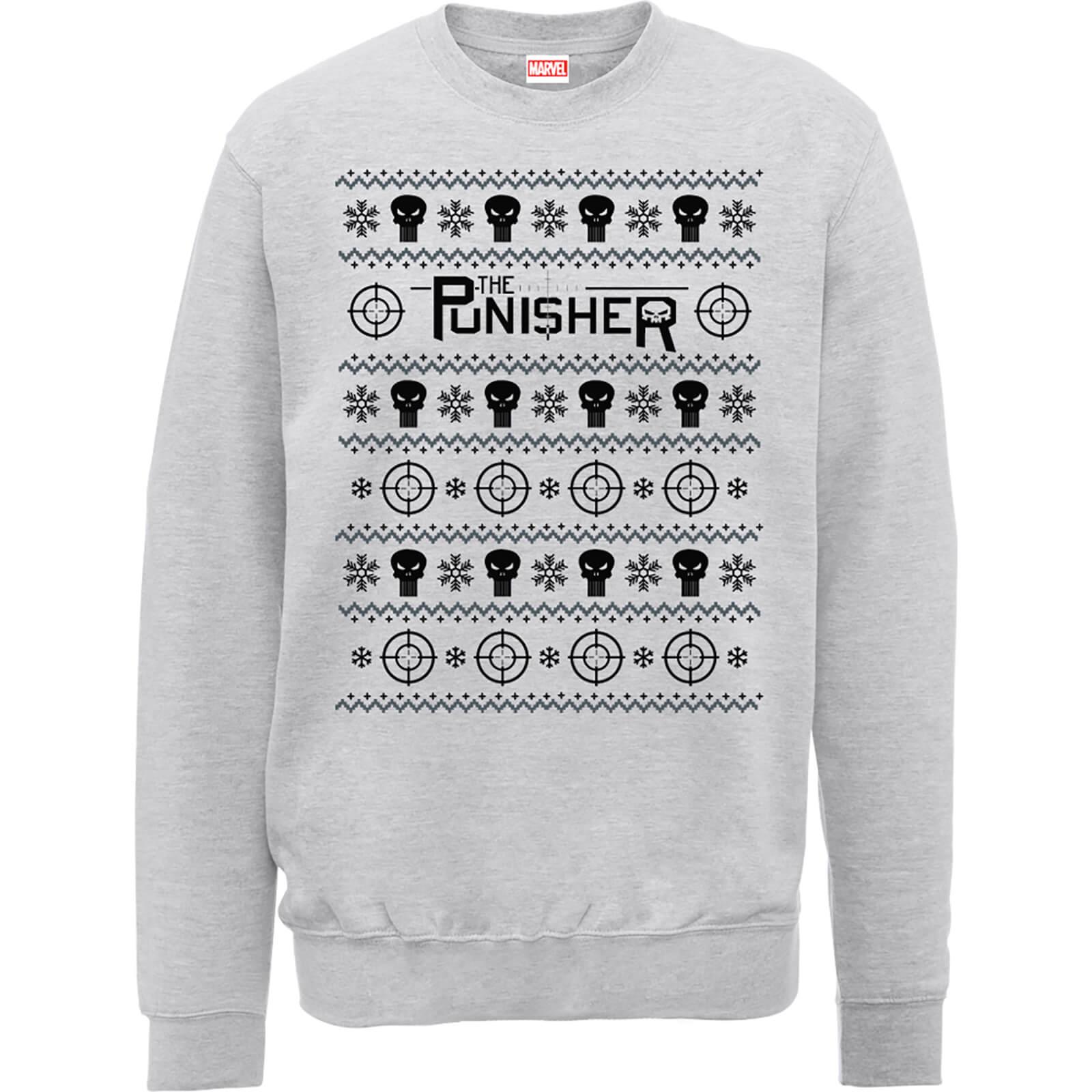 Marvel The Punisher Grey Christmas Sweatshirt Clothing | Zavvi US