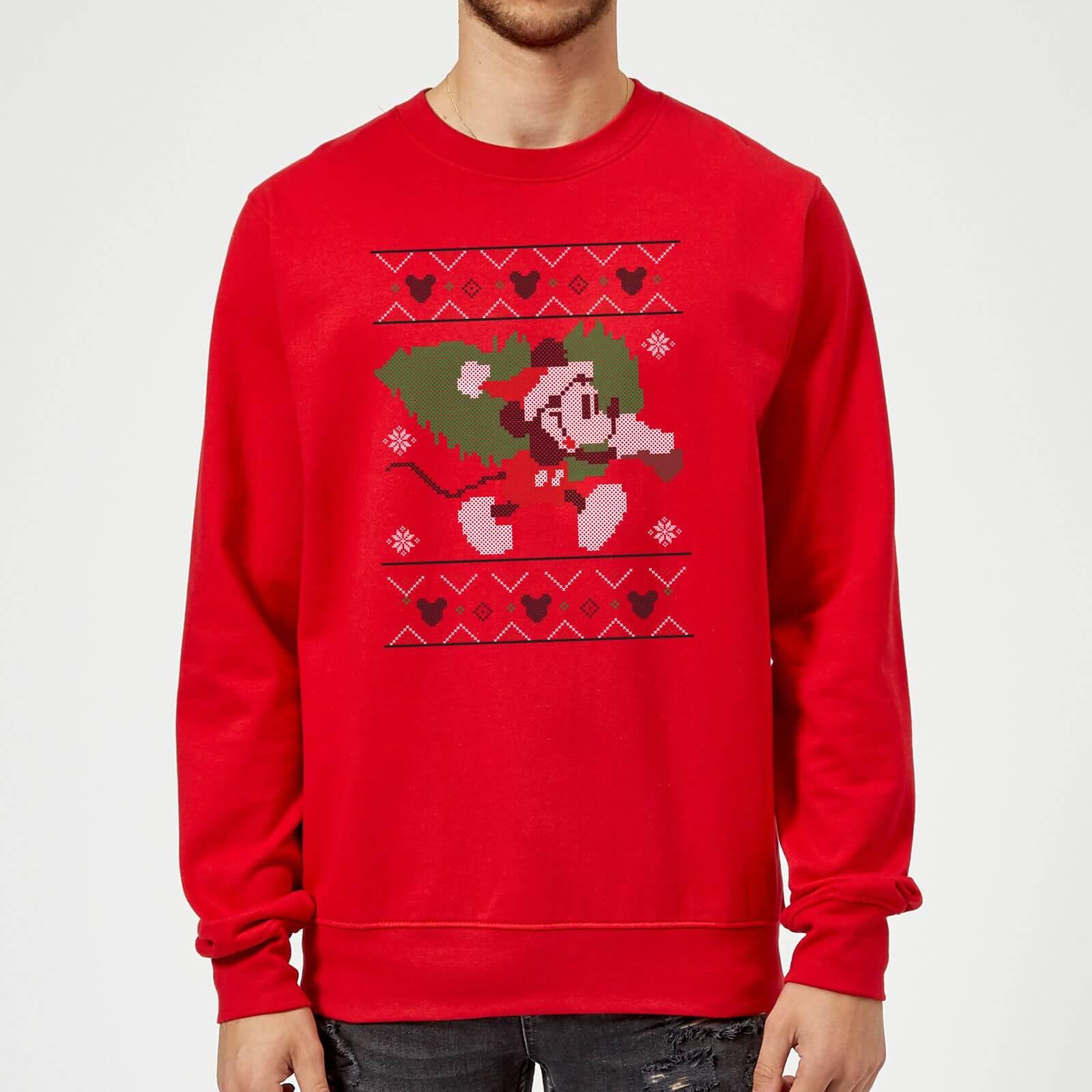 Disney Mickey Mouse Christmas Tree Mickey Red Christmas Sweatshirt My Geek Box