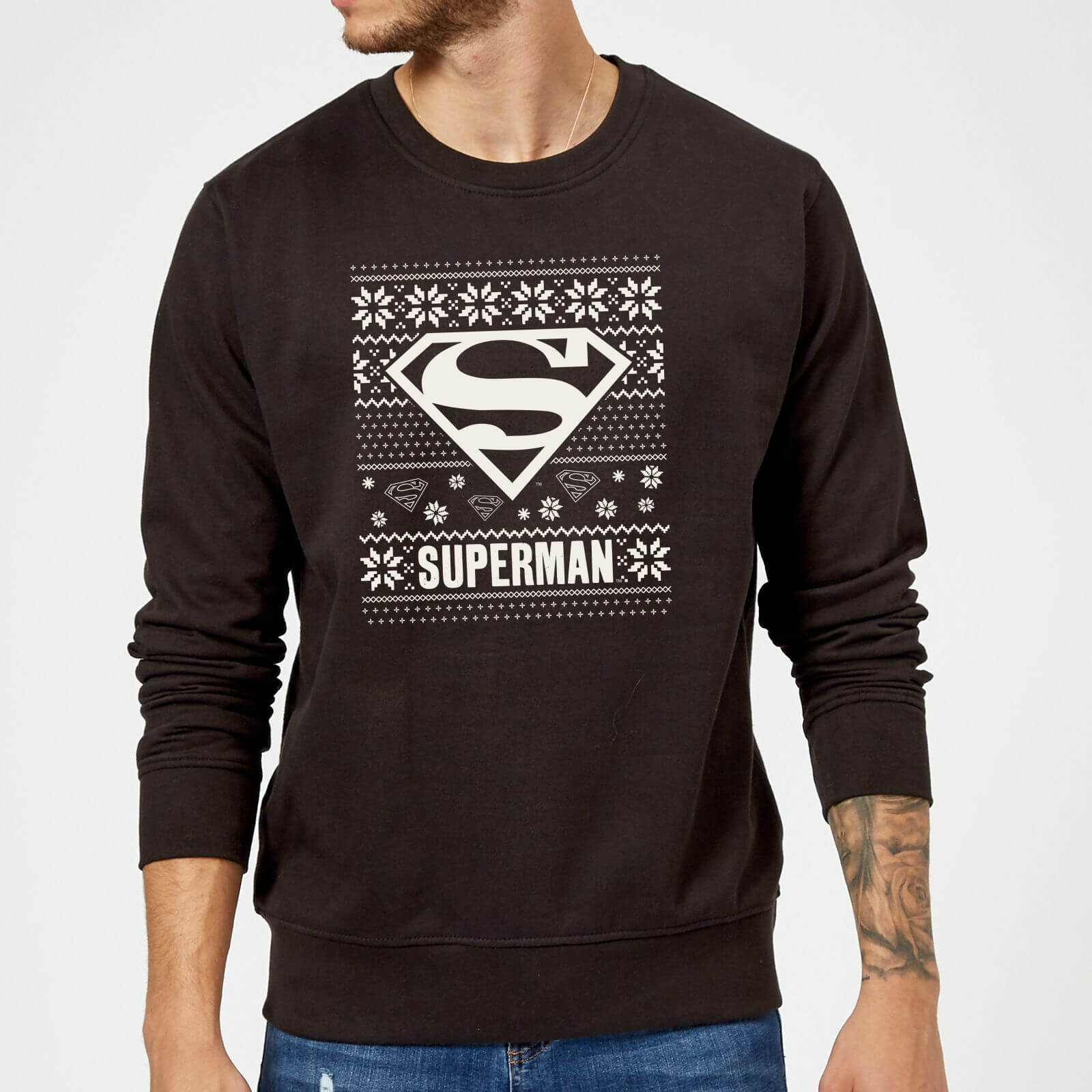 Kersttrui S.Dc Comics Superman Logo Kersttrui Zwart Zavvi Nl